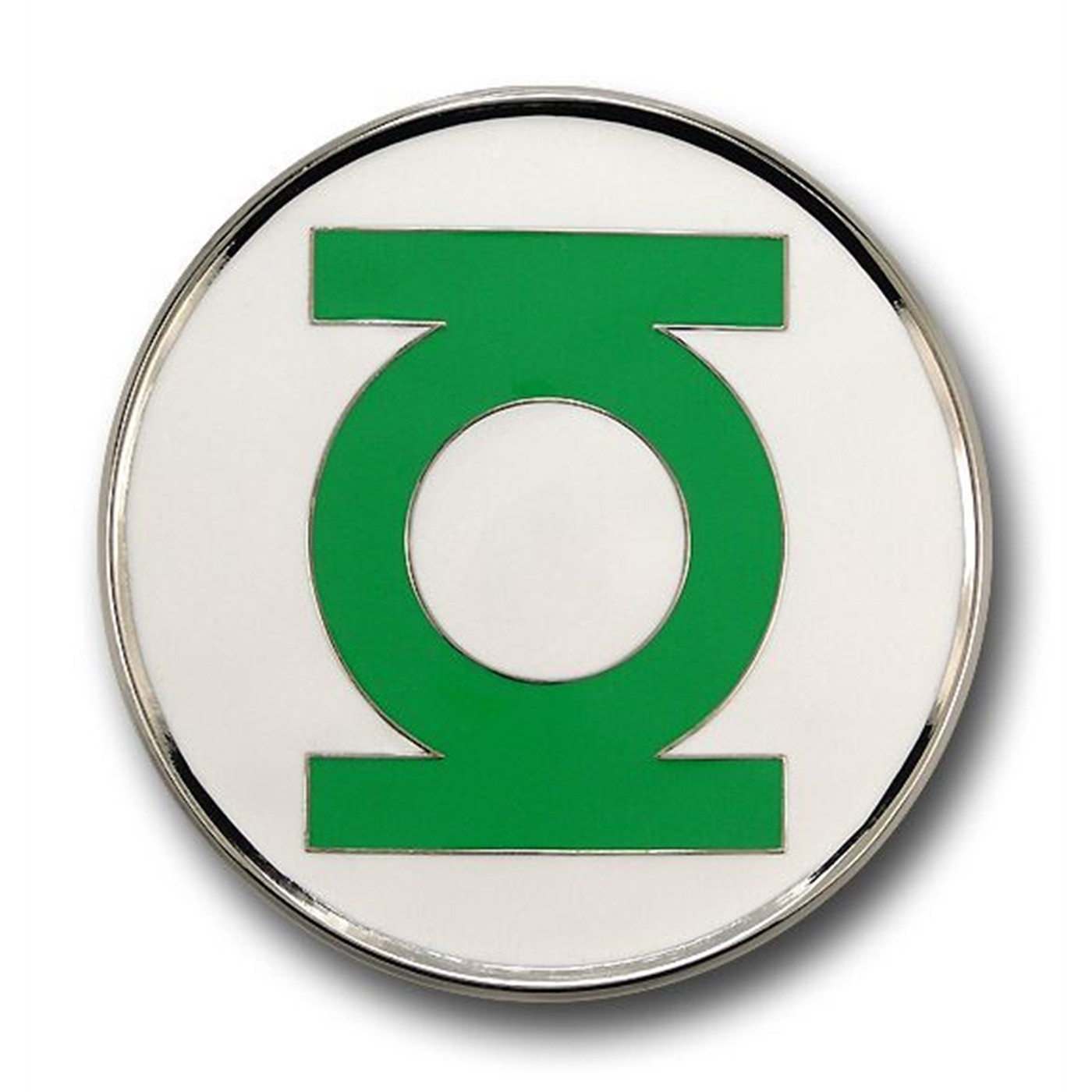 Green Lantern Belt Buckle Silver Edge