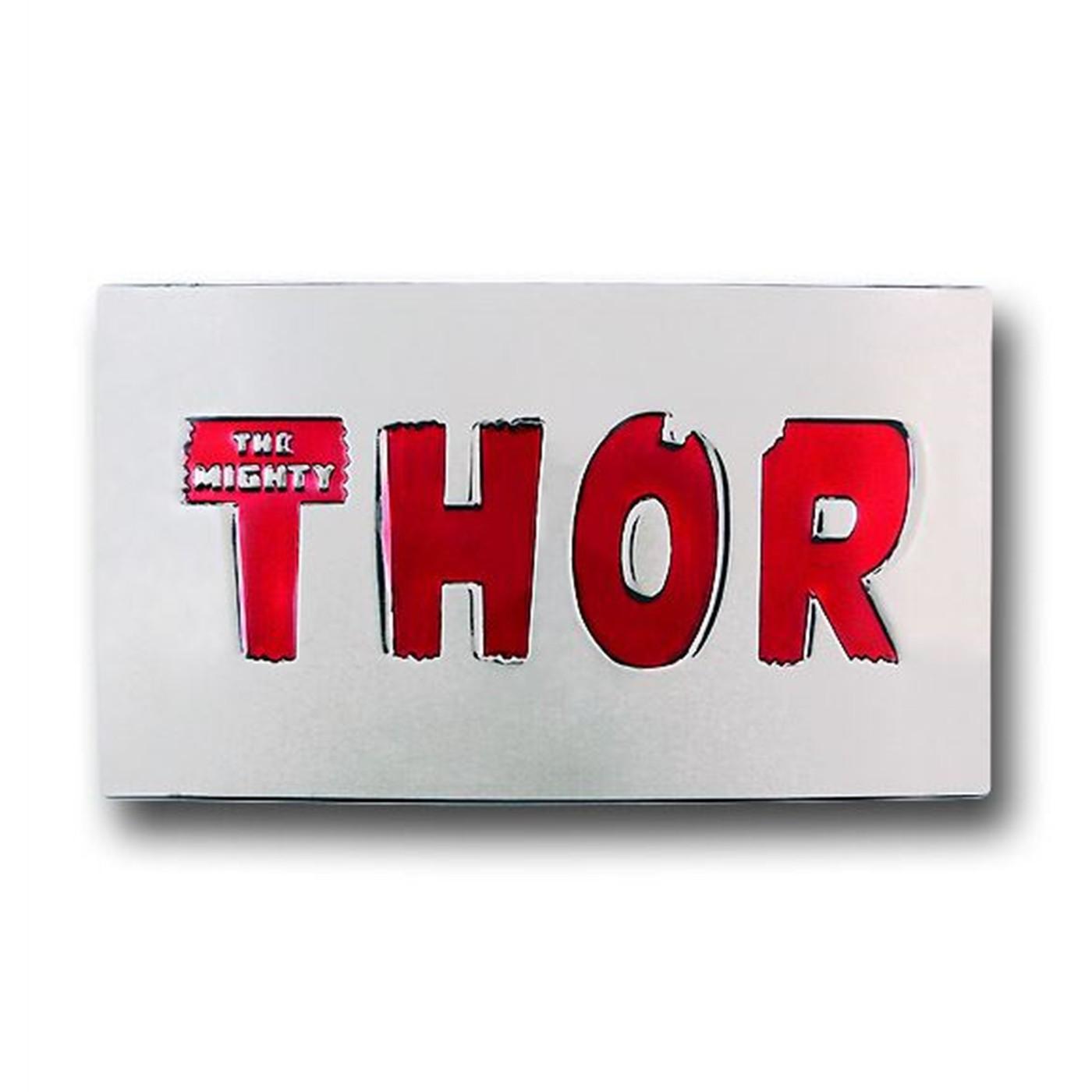 Thor Logo Belt Buckle