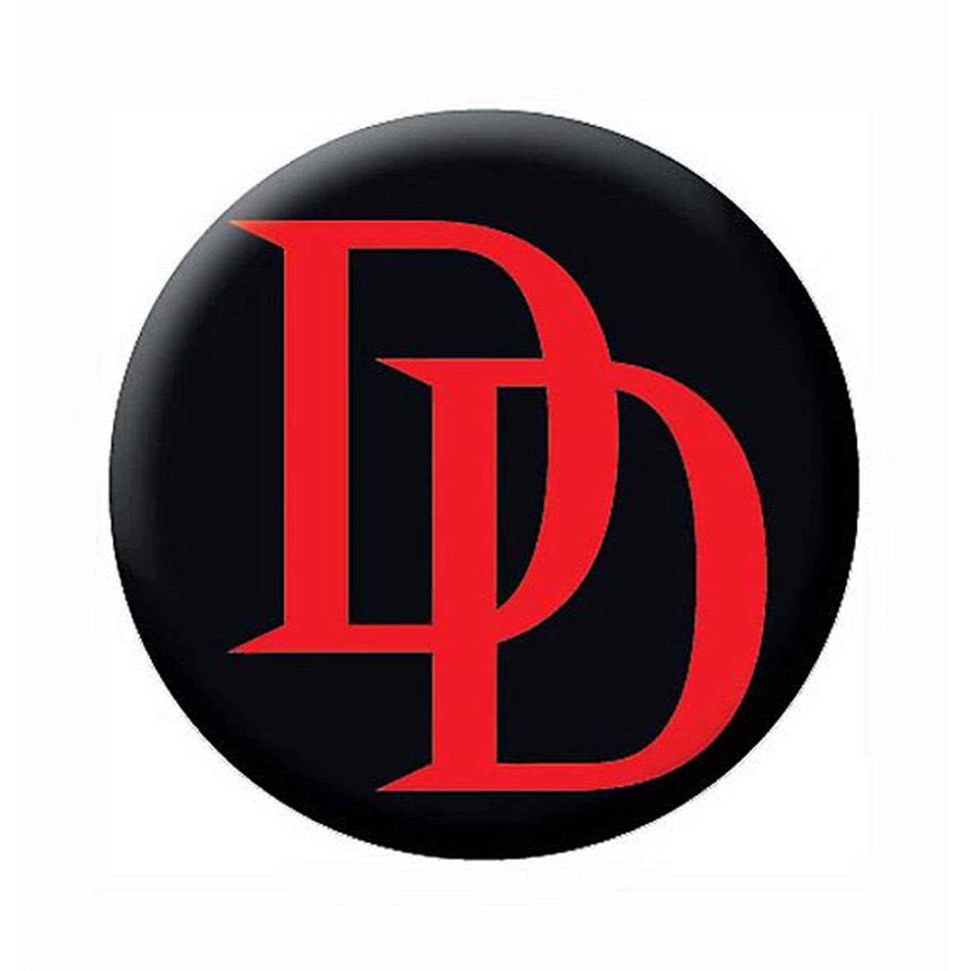Daredevil Red Logo Black Button