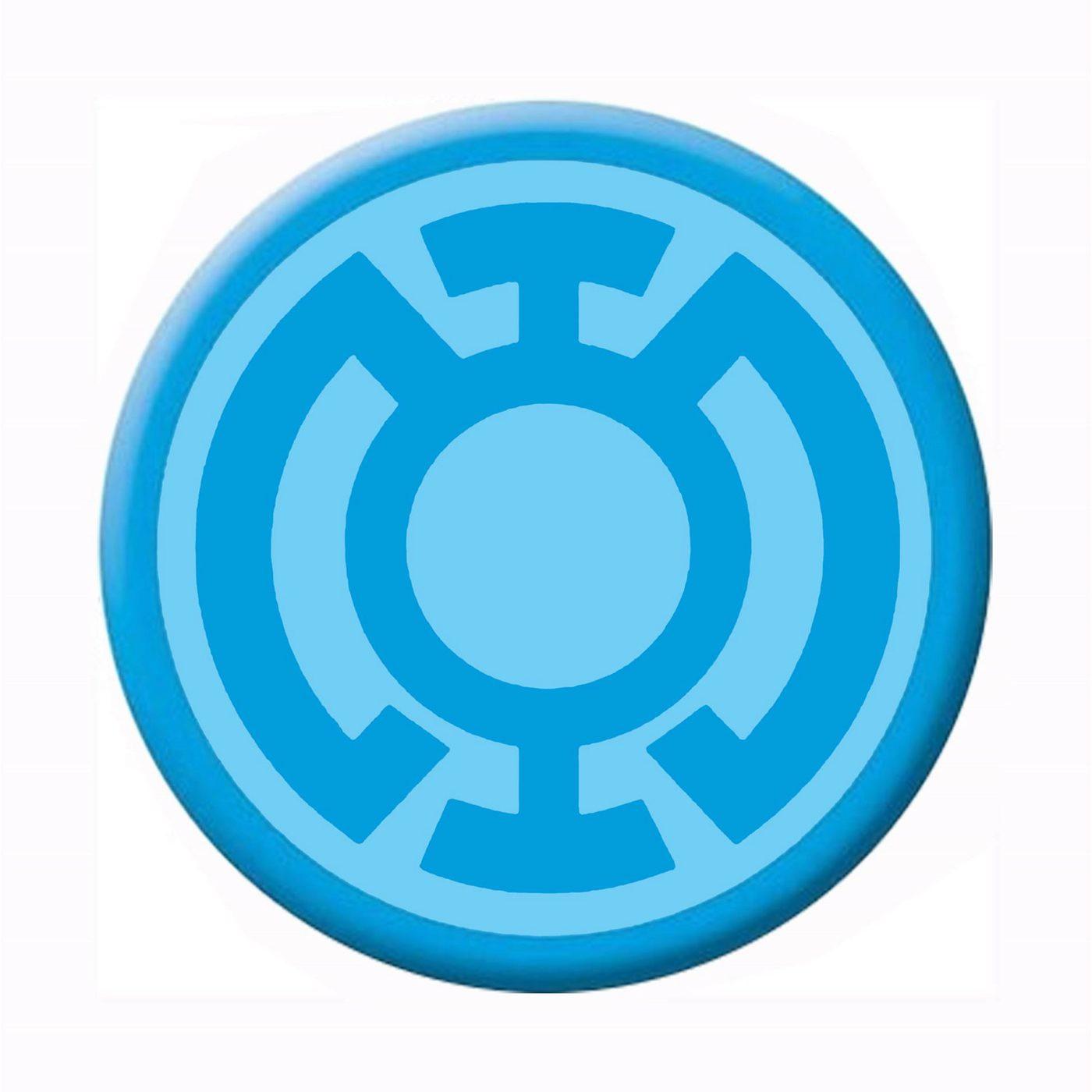 Green Lantern Blue Lantern Symbol Button