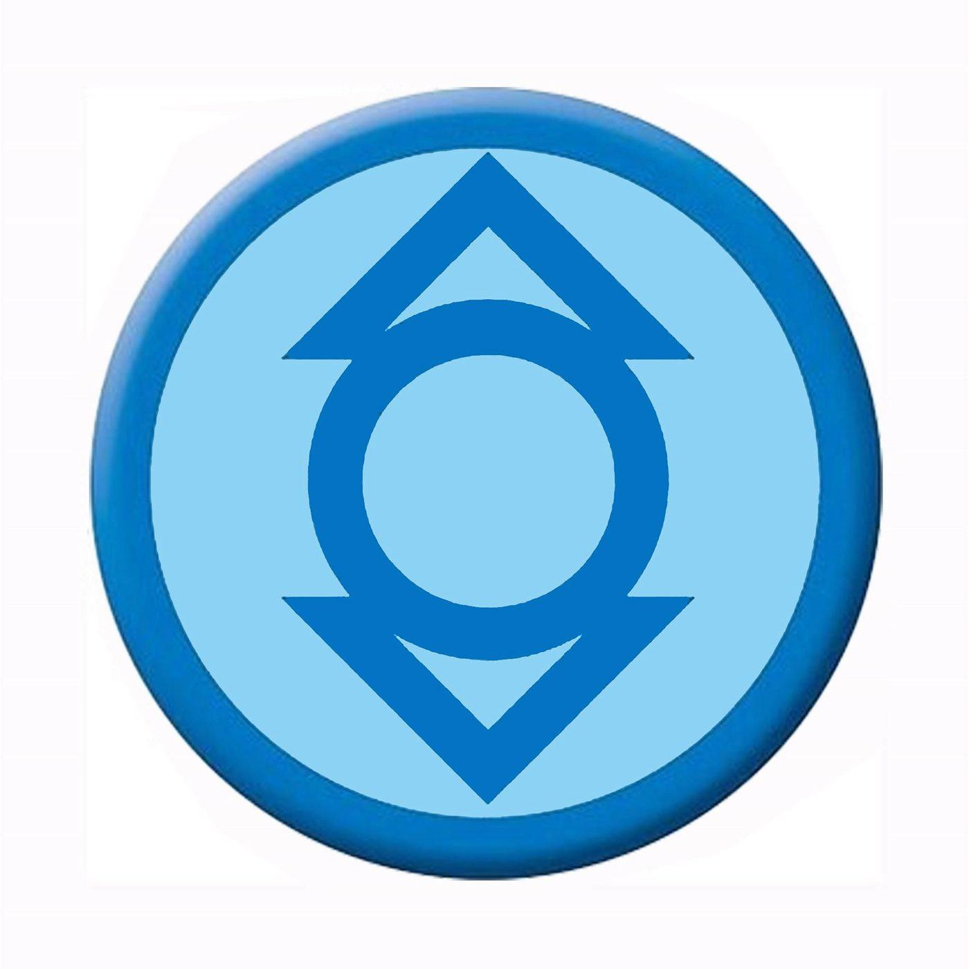 Green Lantern Indigo Lantern Symbol Button