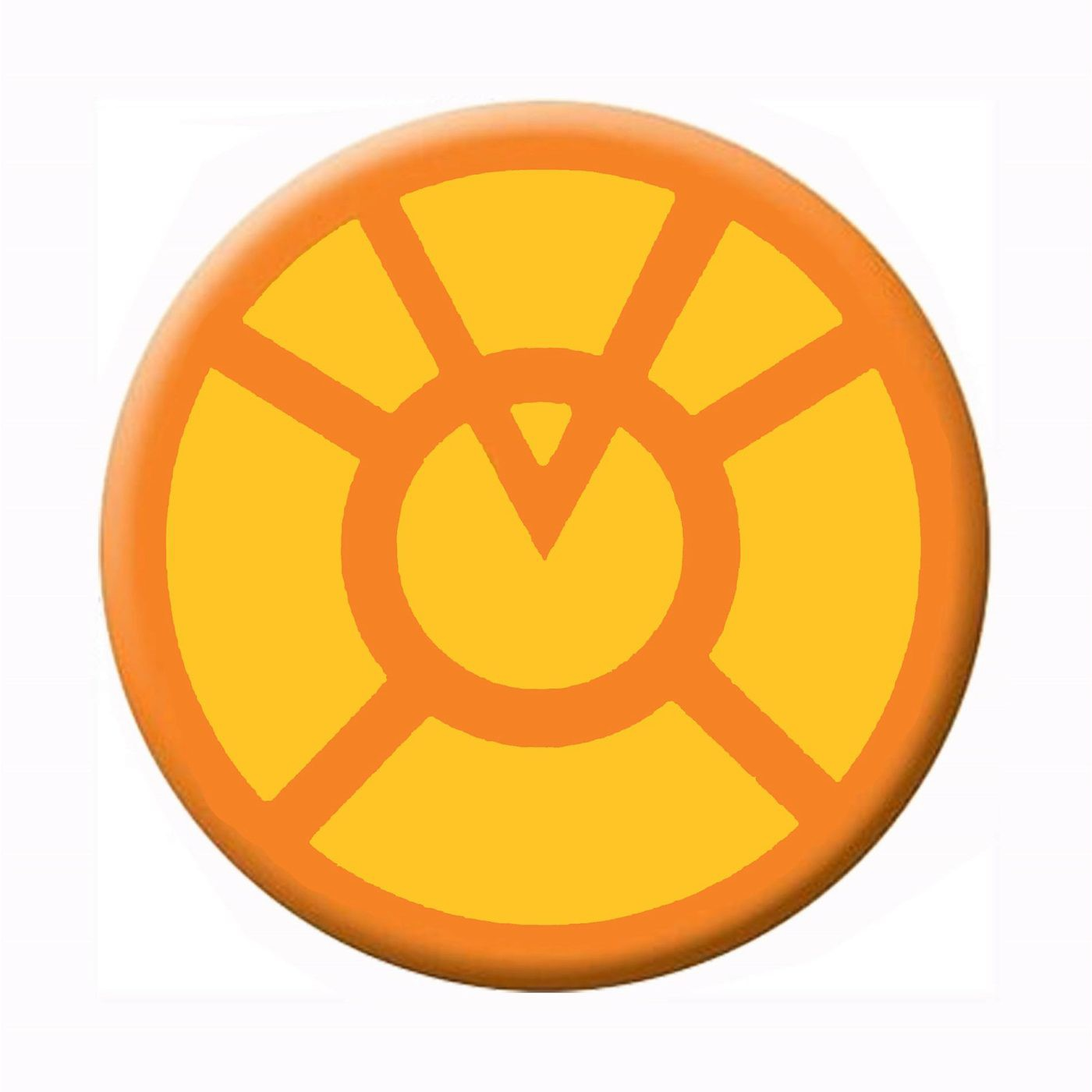 Green Lantern Orange Lantern Symbol Button