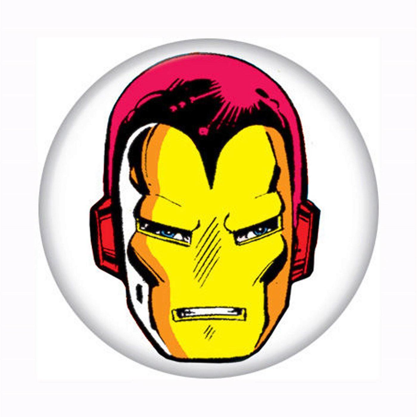 Iron Man Head Button