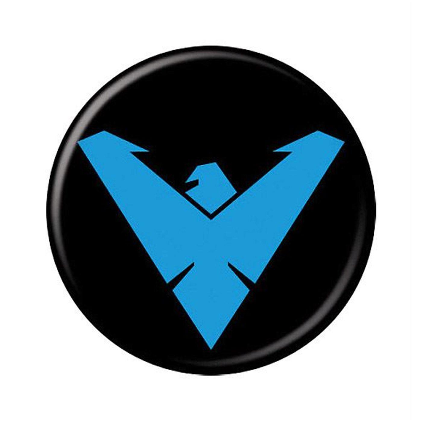 Nightwing Symbol Button