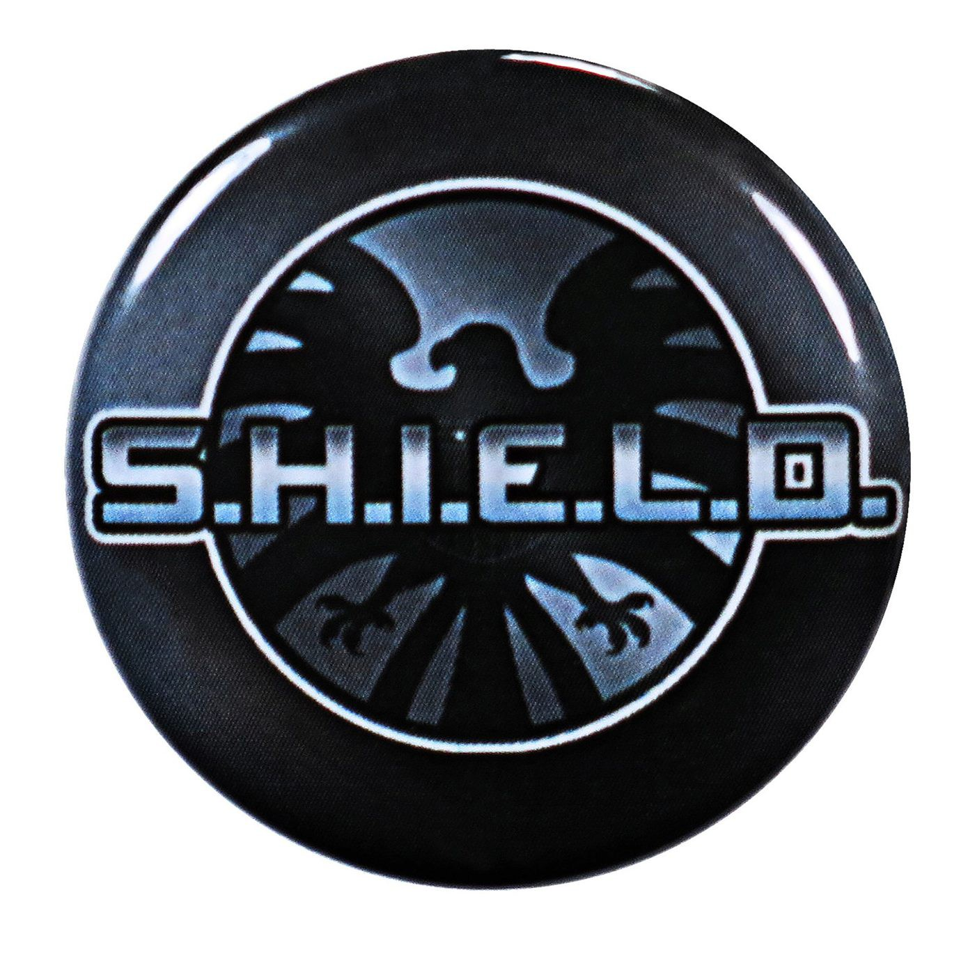 Shield Logo and Symbol Grey Button