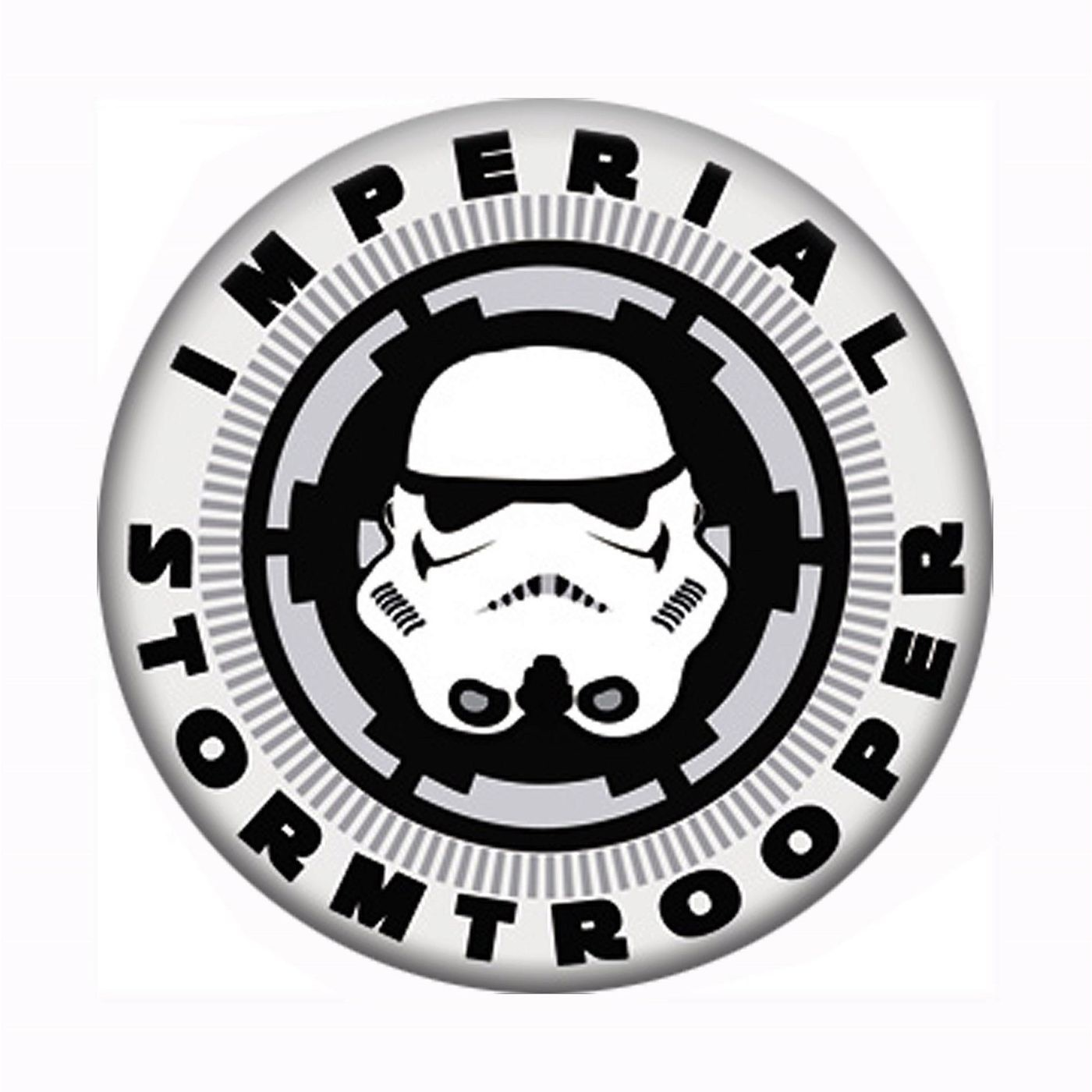 Star Wars Imperial Stormtrooper Mask and Logo Button