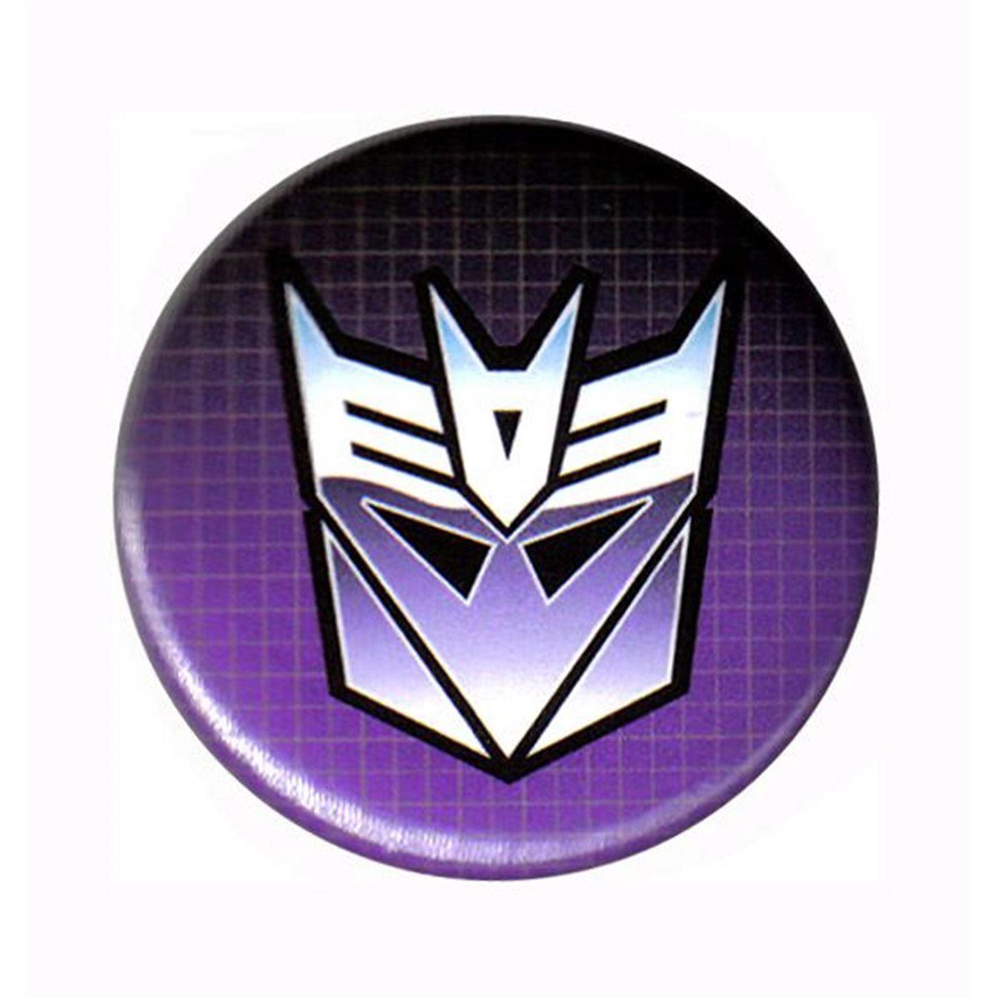 Transformers Decepticon Classic Symbol Button