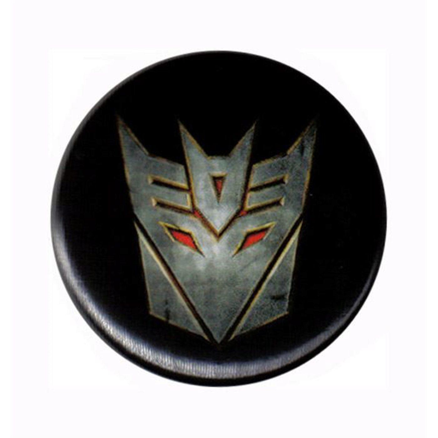 Transformers ROF Decepticon Symbol Button