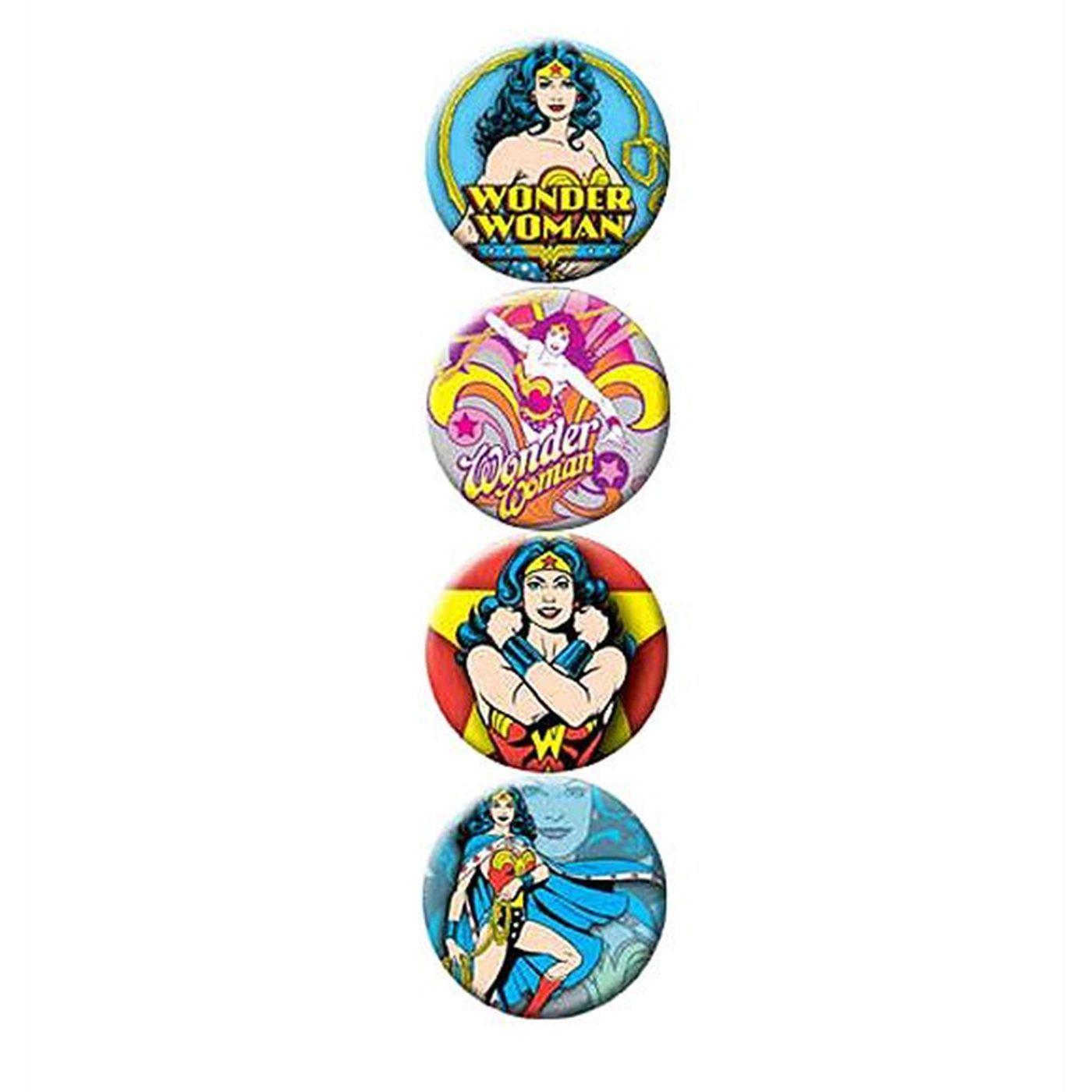 Wonder Woman Flair Button Set of 4