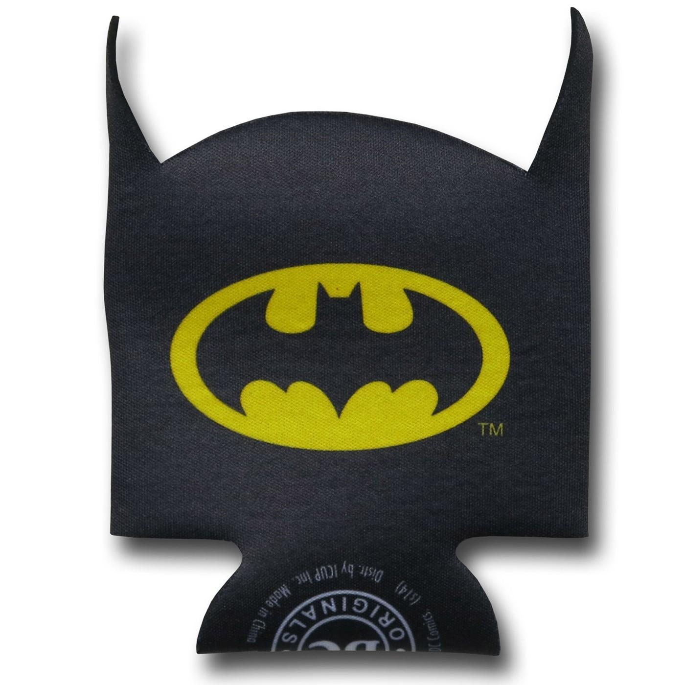 Batman Face Can and Bottle Cooler