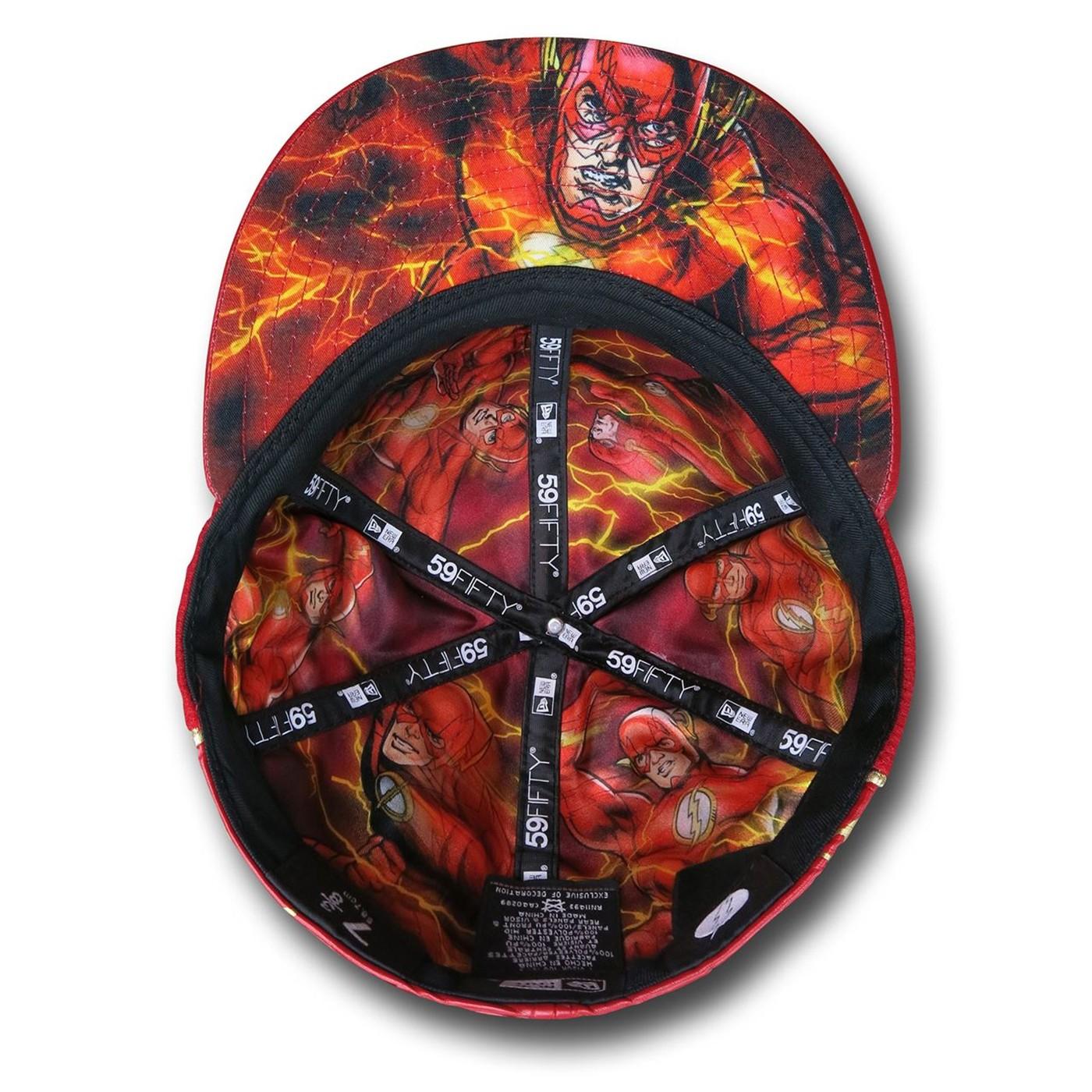Flash Sublimated Lightning Symbol 5950 Hat