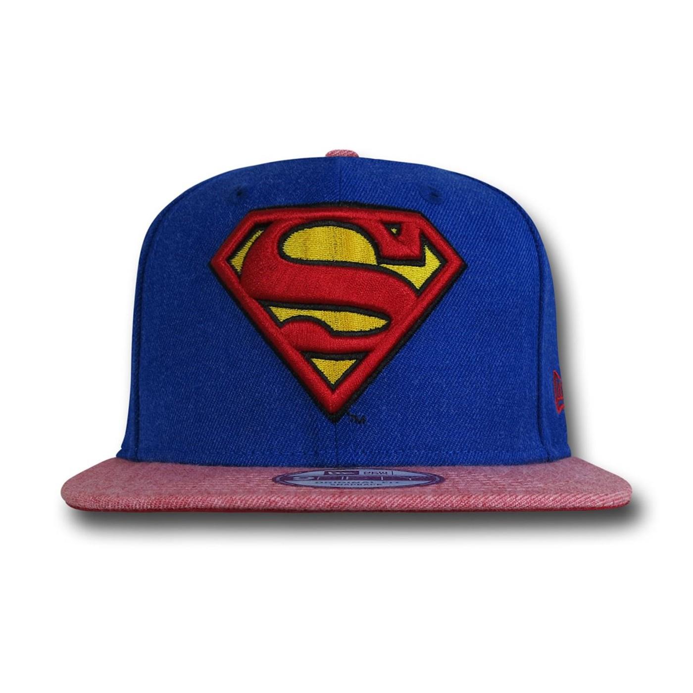 Superman Hero Heather New Era 9Fifty Cap