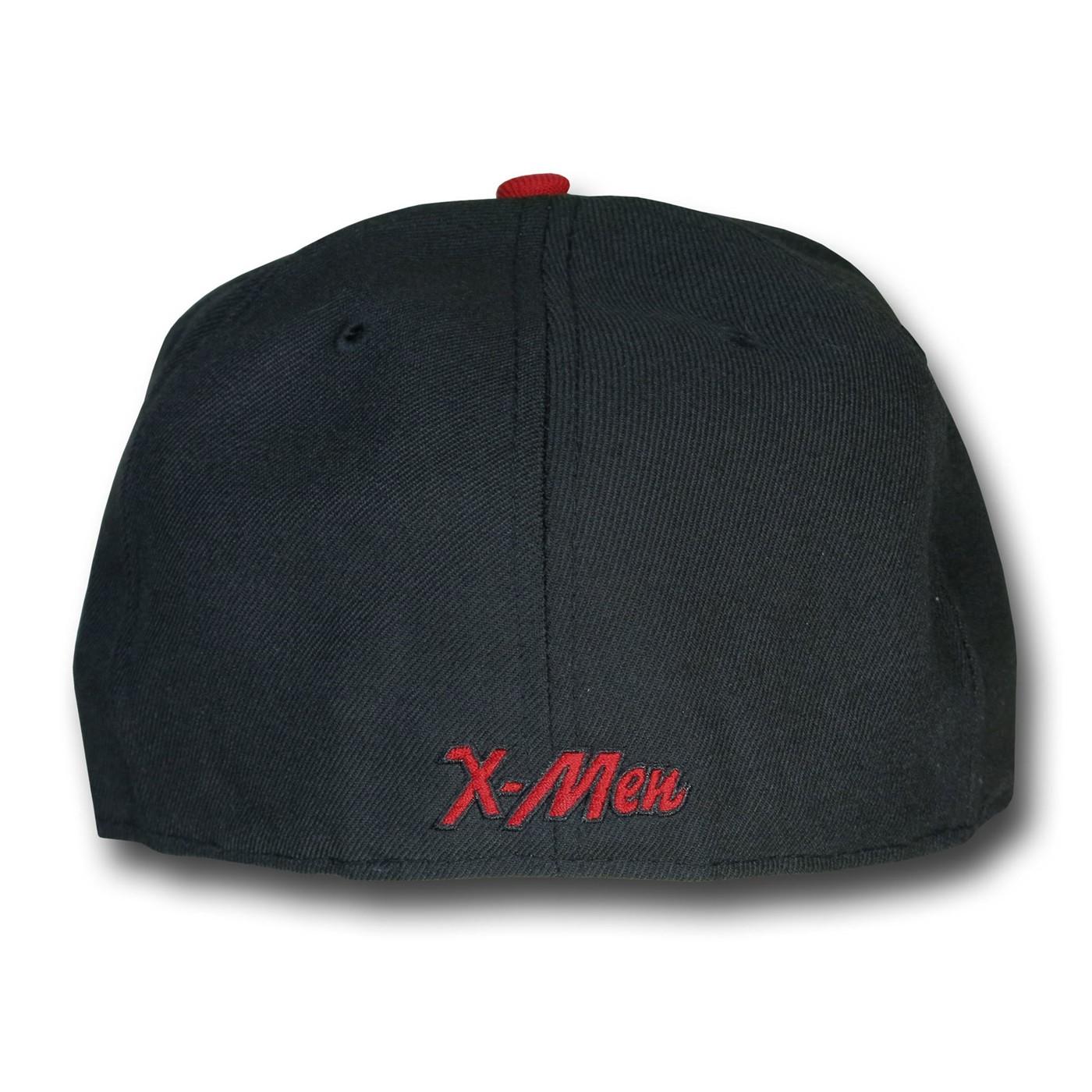 X-Men Symbol Red Bill Black 39Thirty Cap