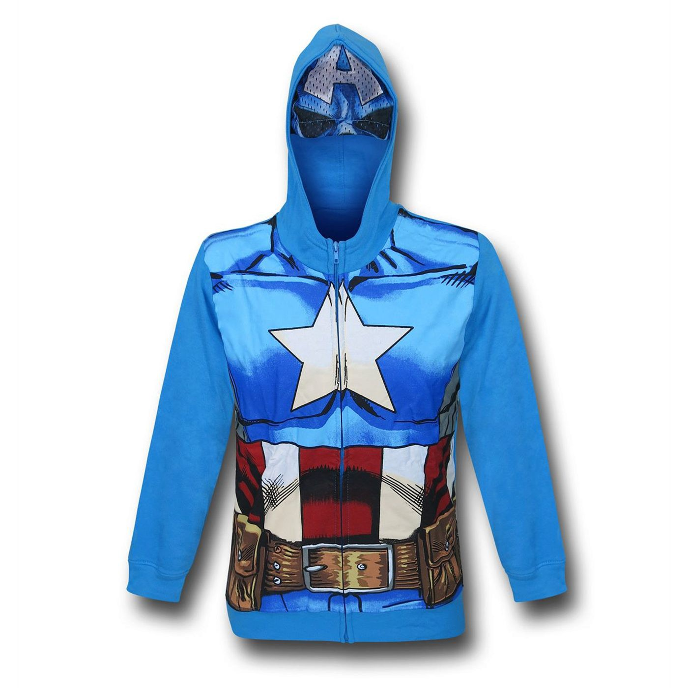 Captain America Costume Kids Zipper Hoodie with Mask