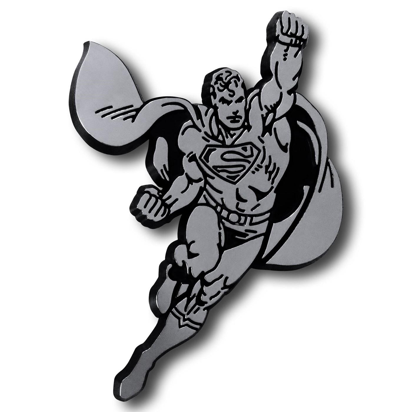 Superman Flying 3D Plastic Car Emblem
