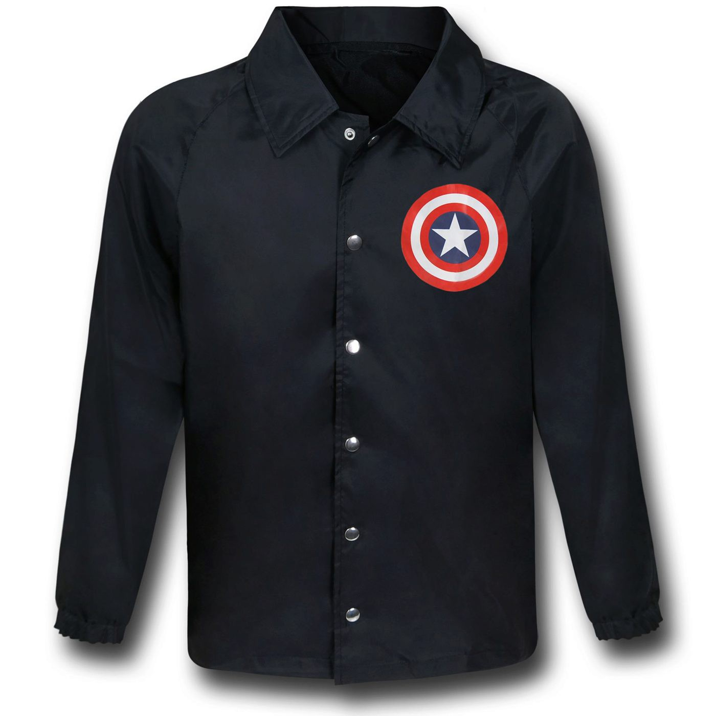 Captain America Shield Black Windbreaker