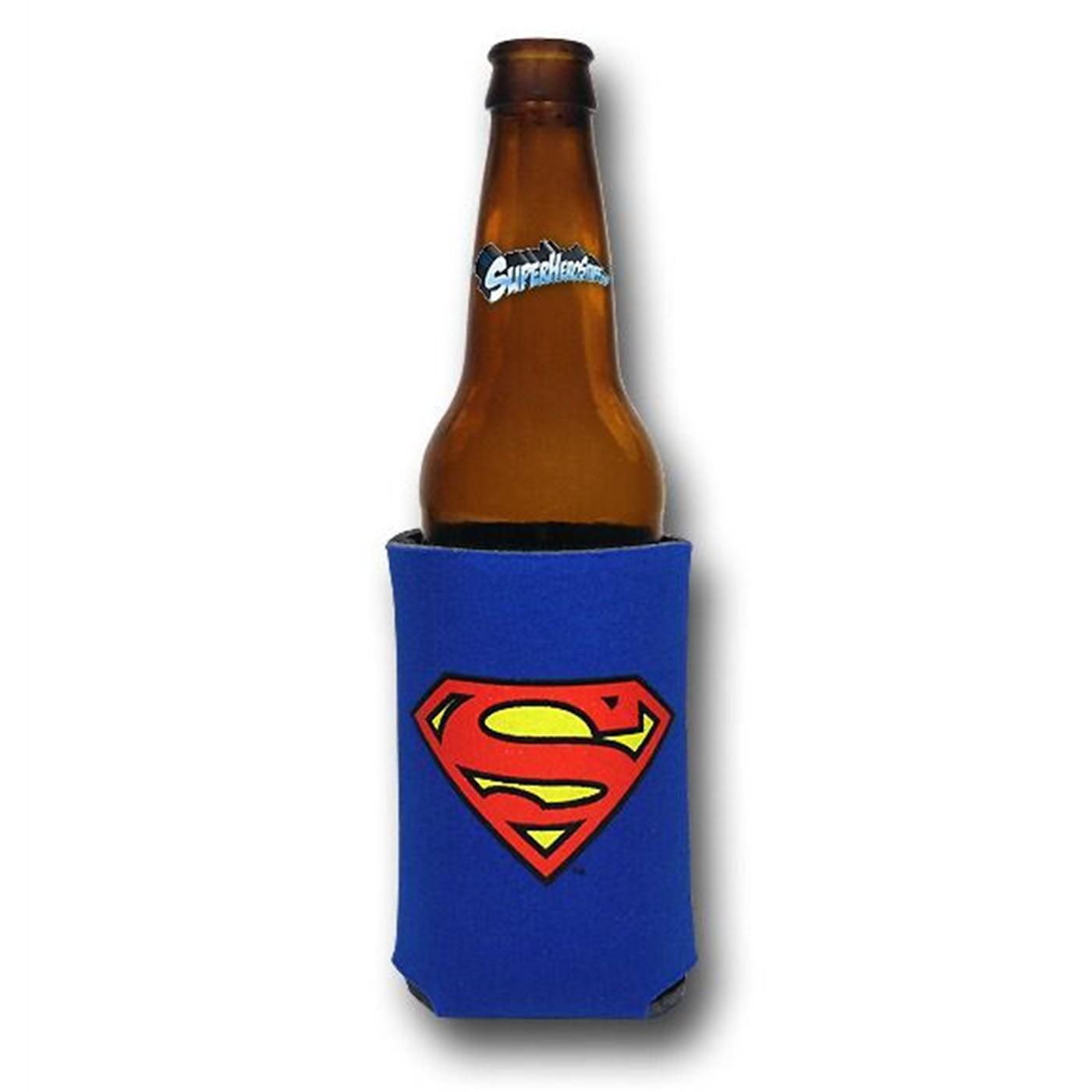 Superman Symbol Can and Bottle Cooler