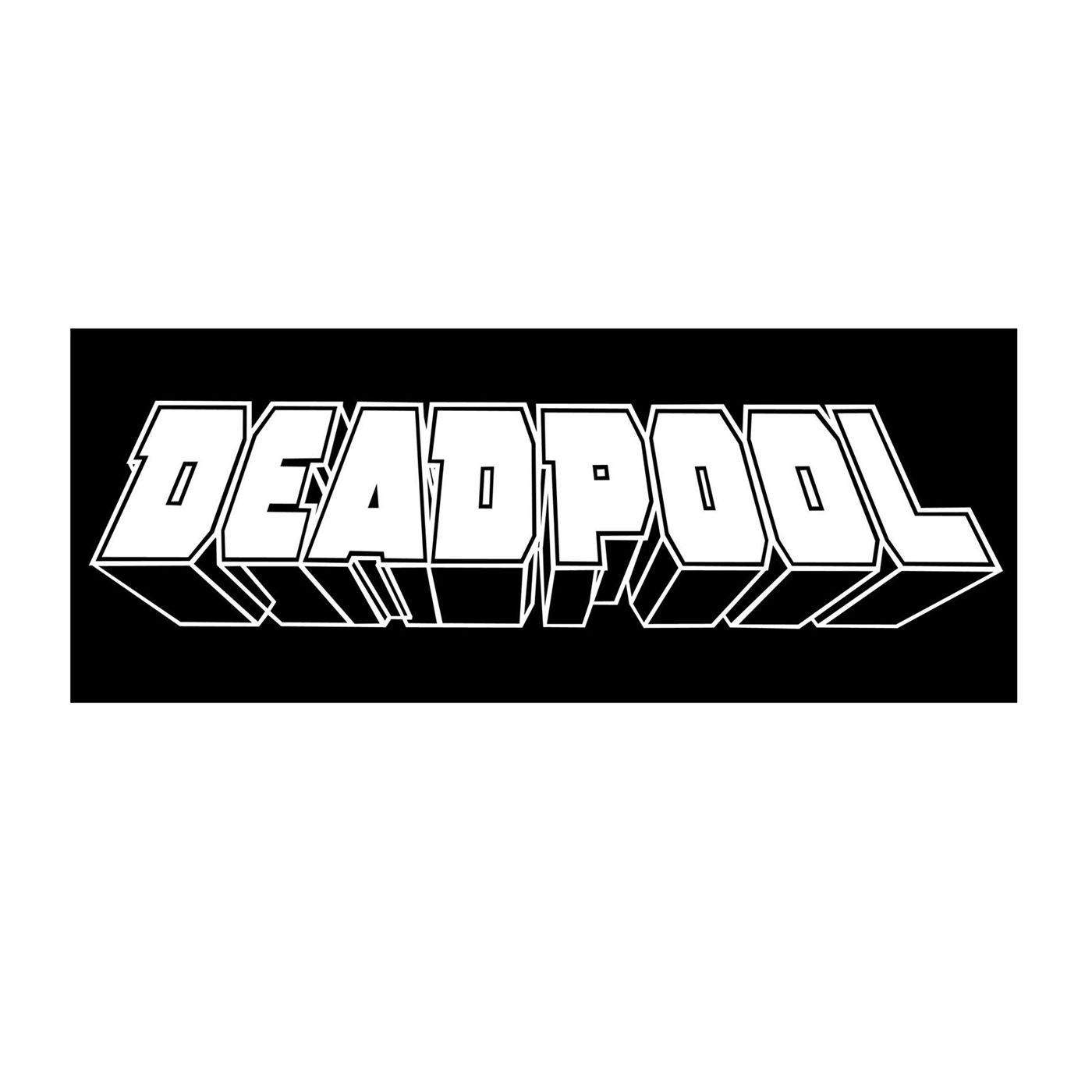 Deadpool Logo White Decal