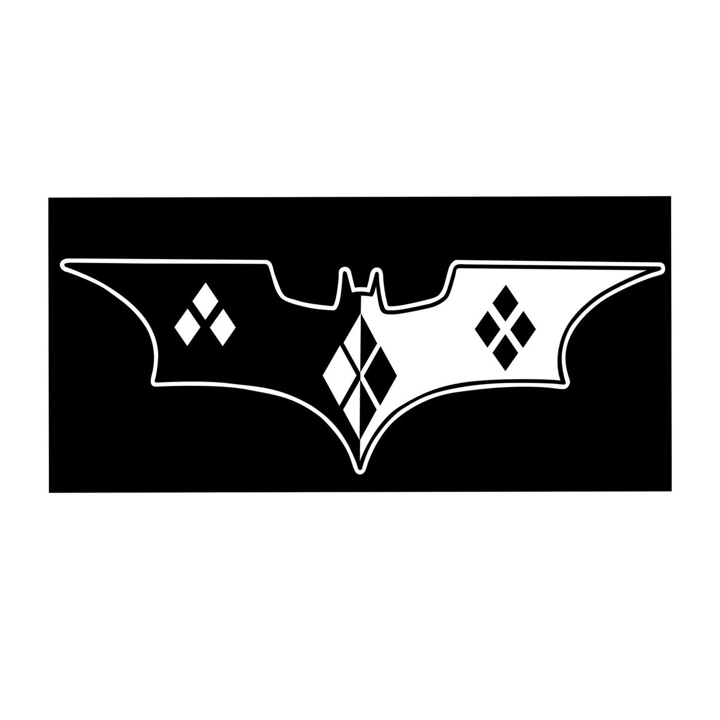 Harley Quinn Bat Symbol White Decal