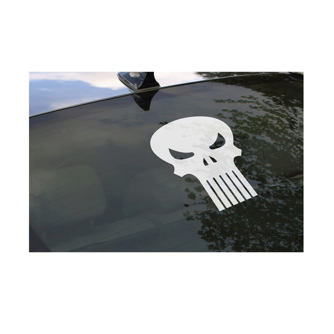 Punisher Symbol Rear Window Decal
