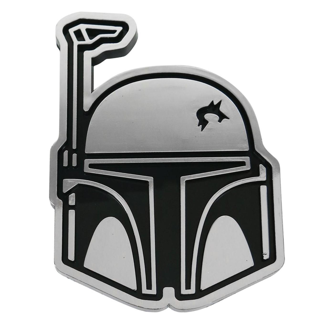 Star Wars Boba Fett Head Chrome Car Emblem