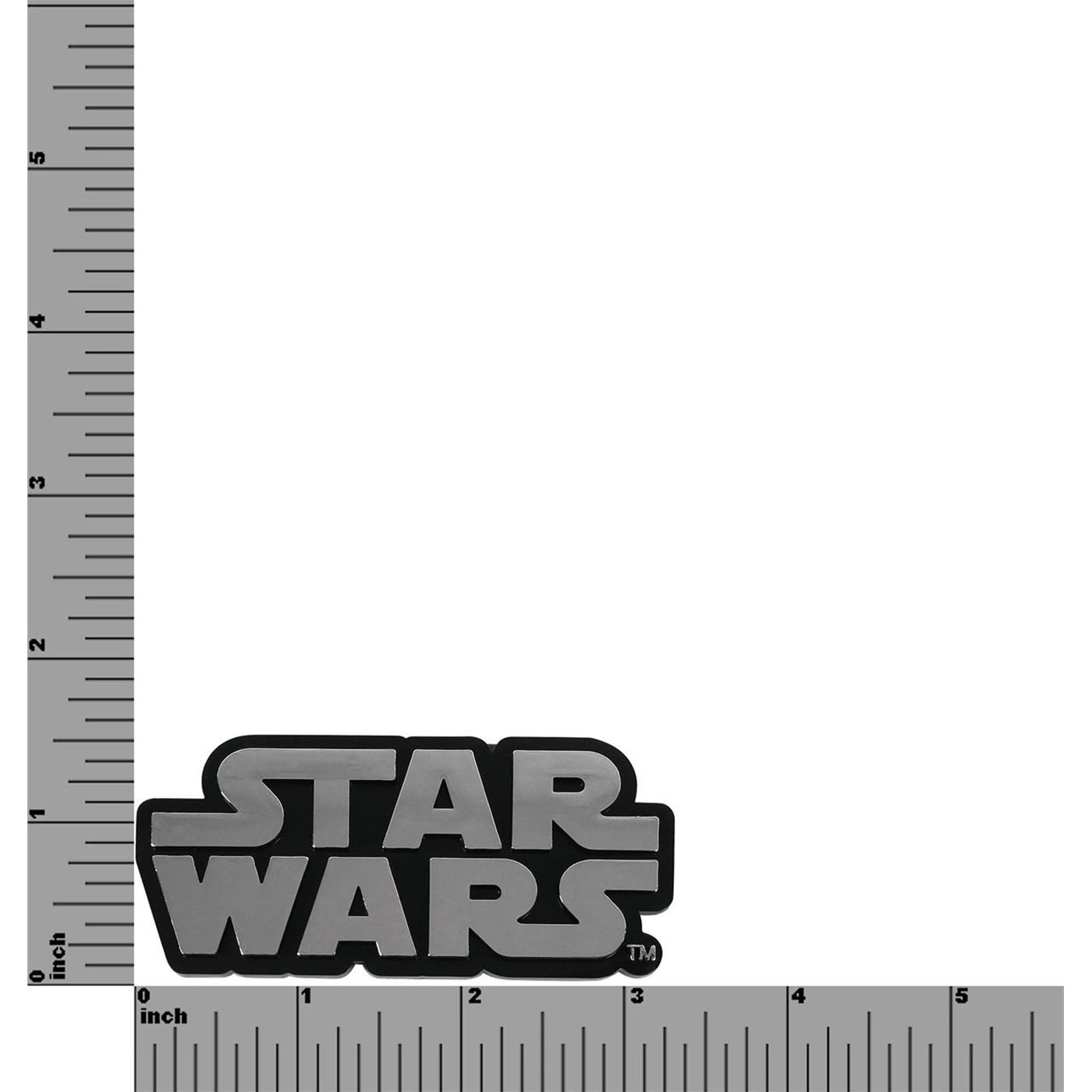 Star Wars Logo Chrome Car Emblem