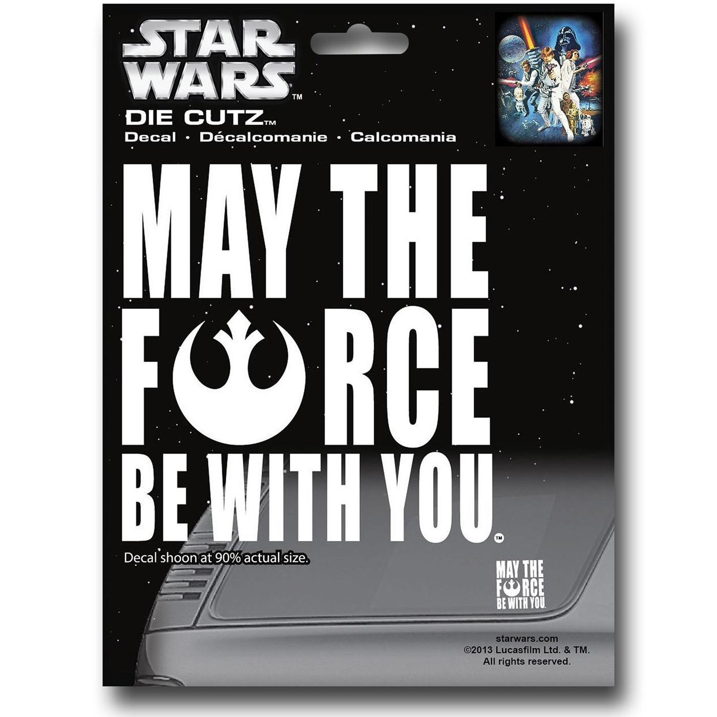 Stars Wars Force Be With You Decal