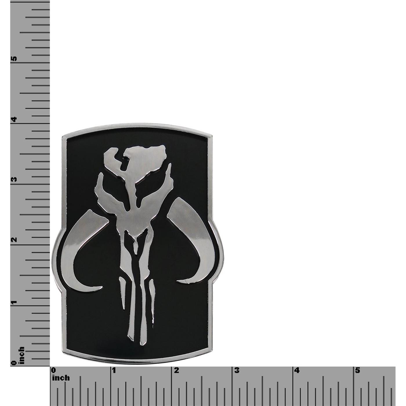 Star Wars Mandalorian Crest Chrome Car Emblem