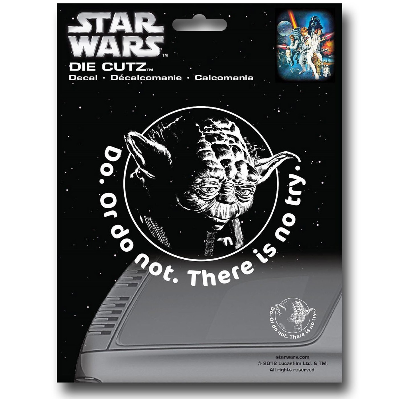 Star Wars Yoda Die Cut Decal