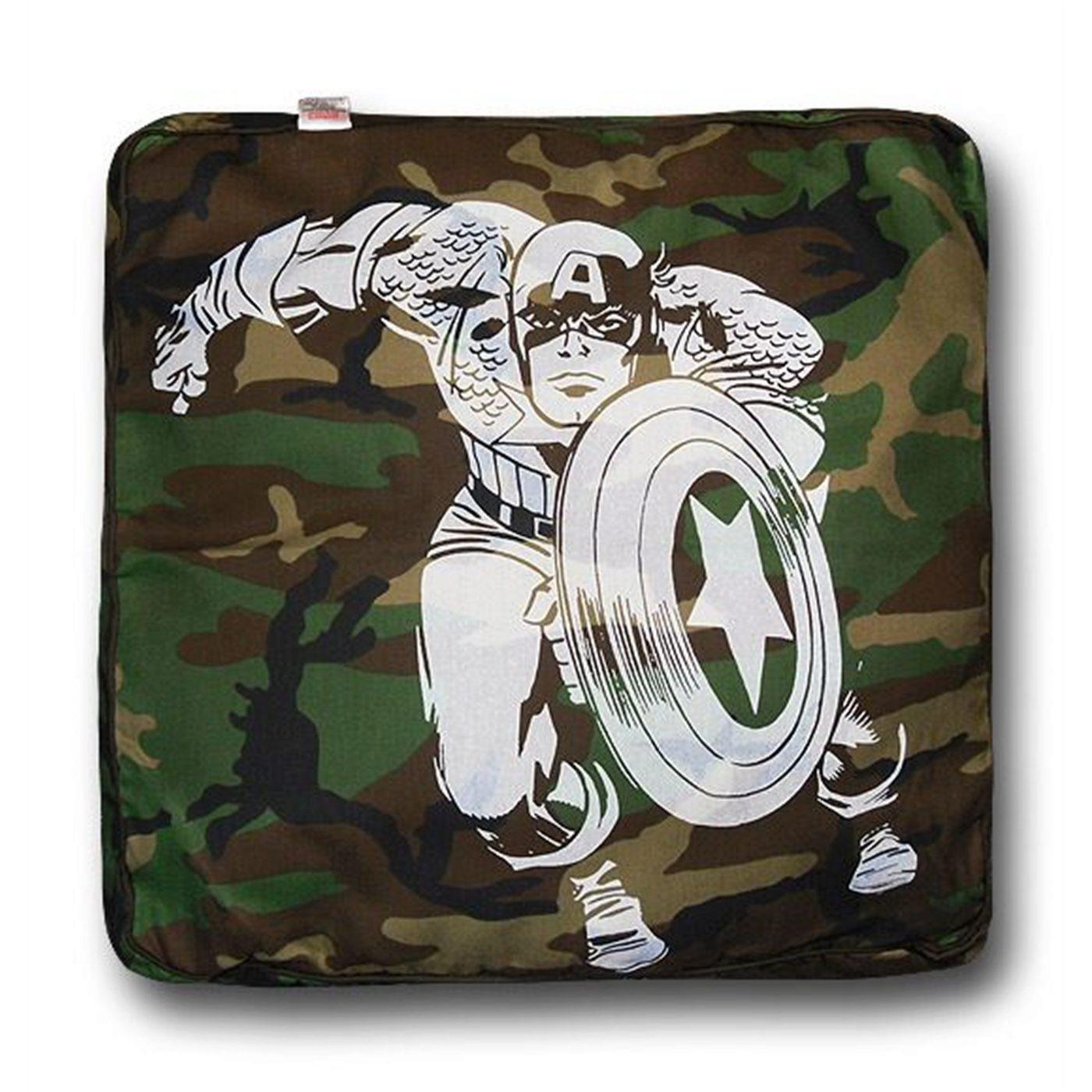 Captain America Square Vintage Dog Bed