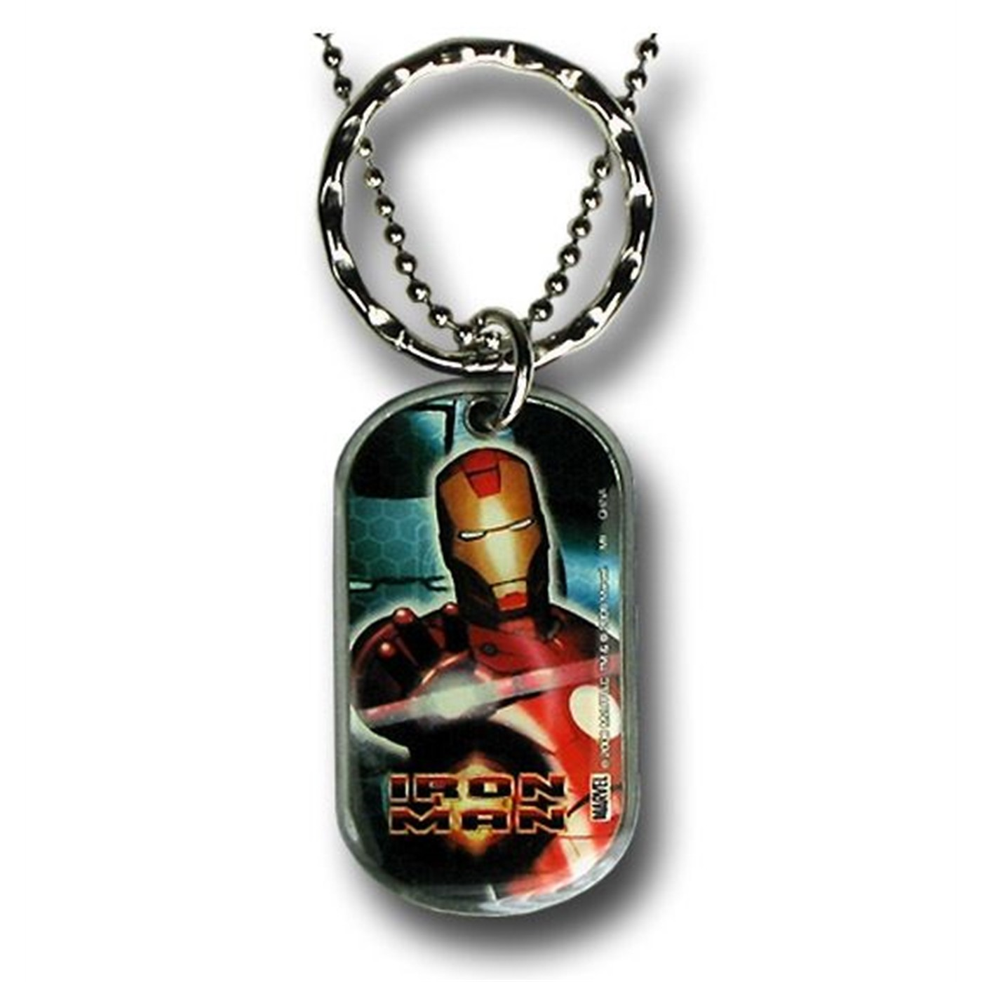 Iron Man Pewter Dog Tag with Keyring