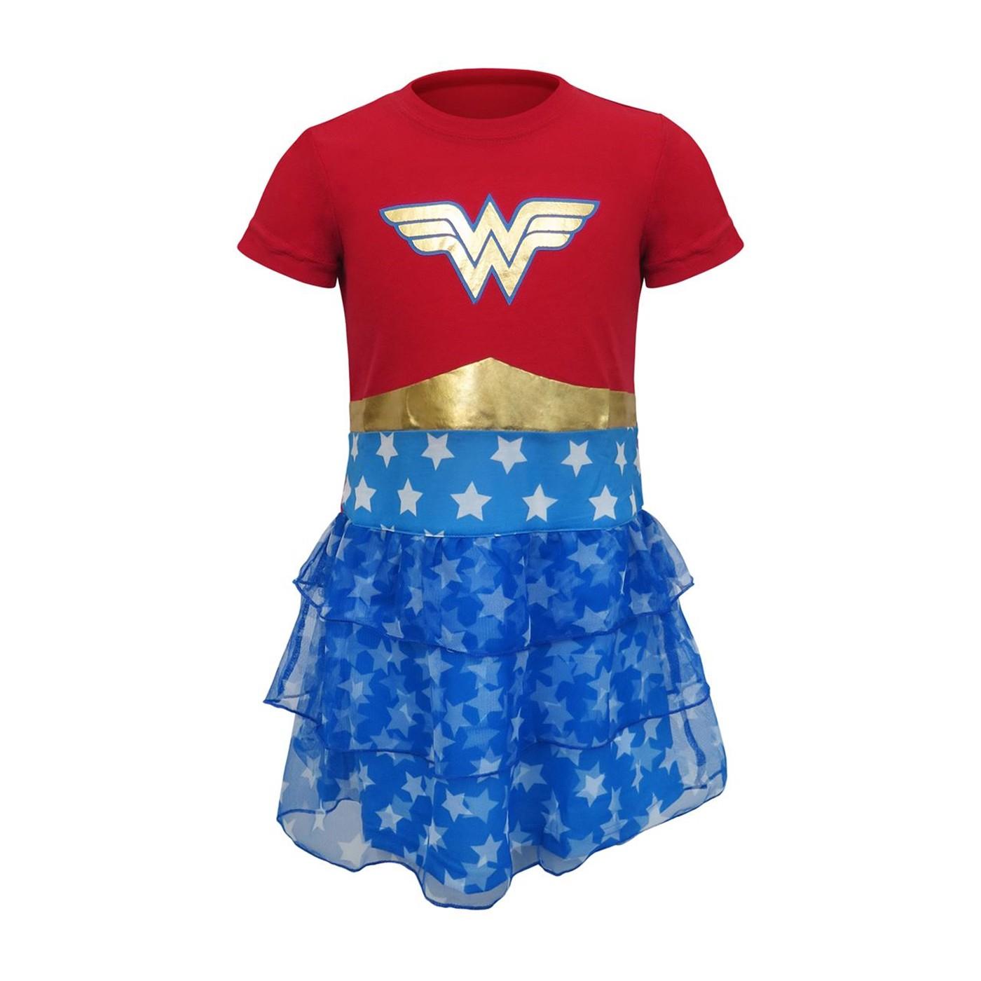 Wonder Woman Girls Tier Gown Dress