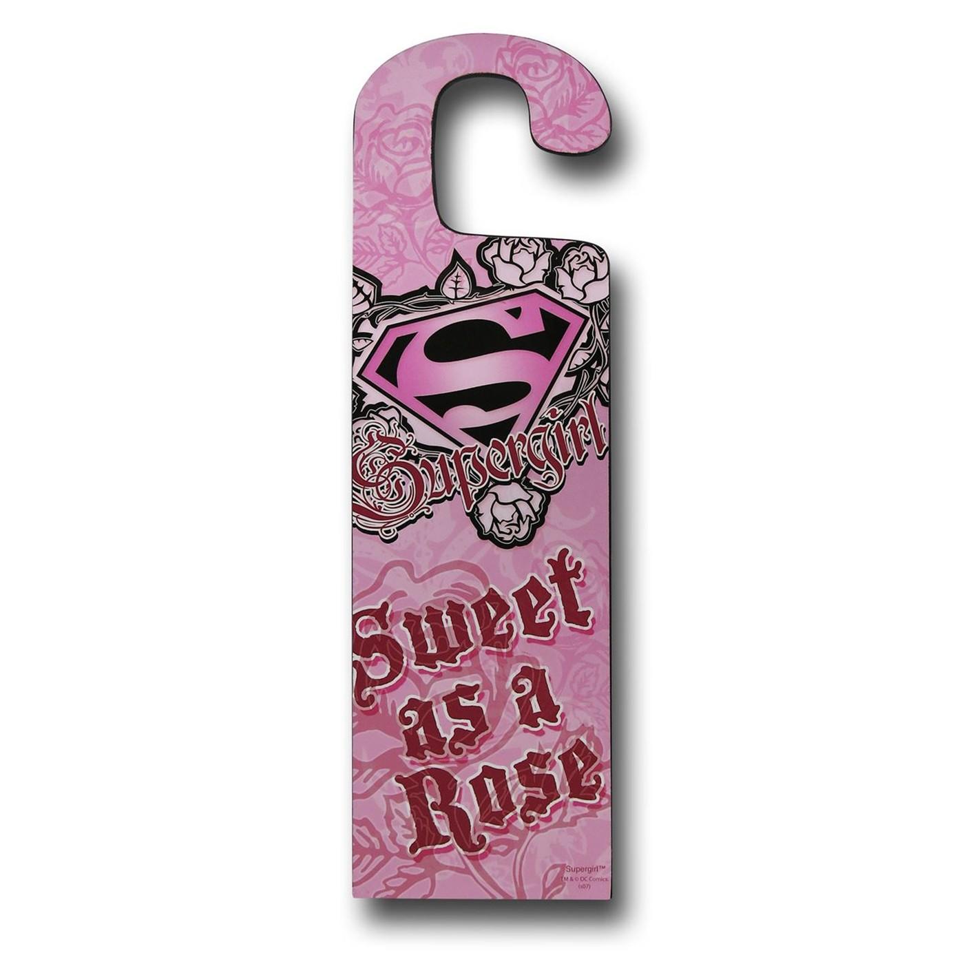 Supergirl Double Sided Door Hanger Sign
