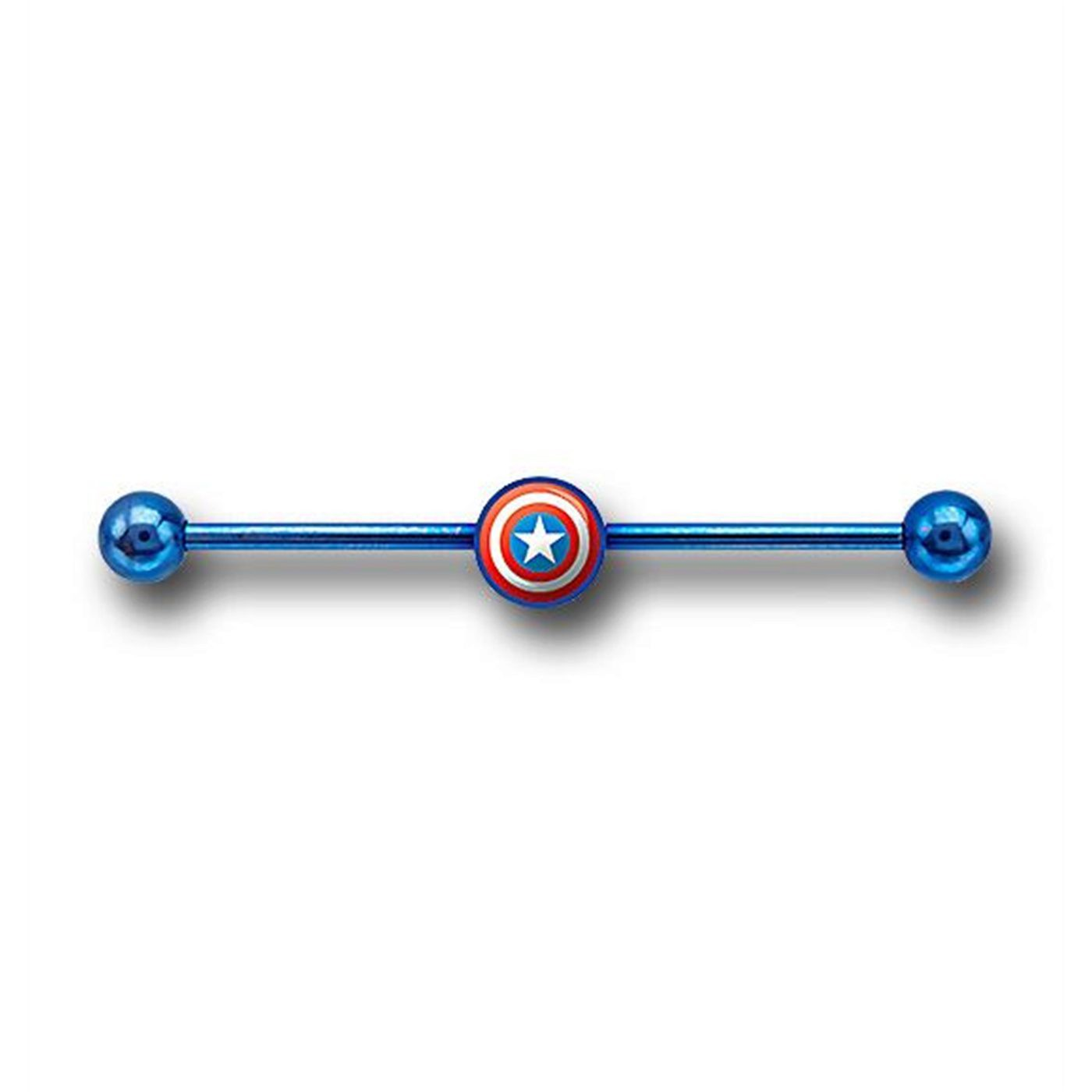 Captain America 316L Surgical Steel Industrial Earring