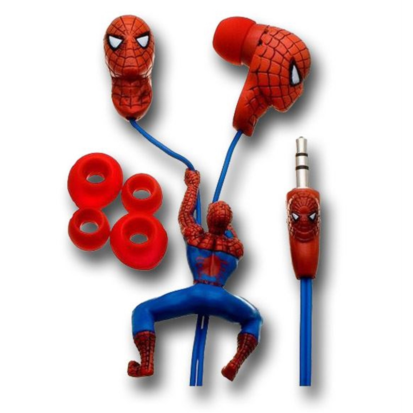Spiderman Sculptured Earphones w/Slider & Jack Design