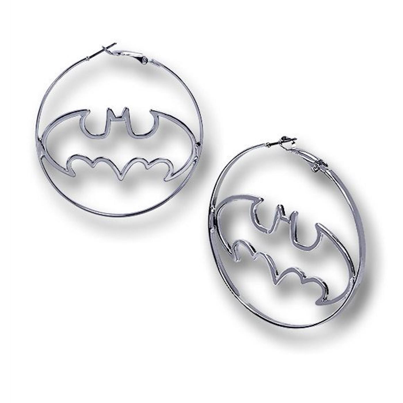 Batman Hoop Earrings