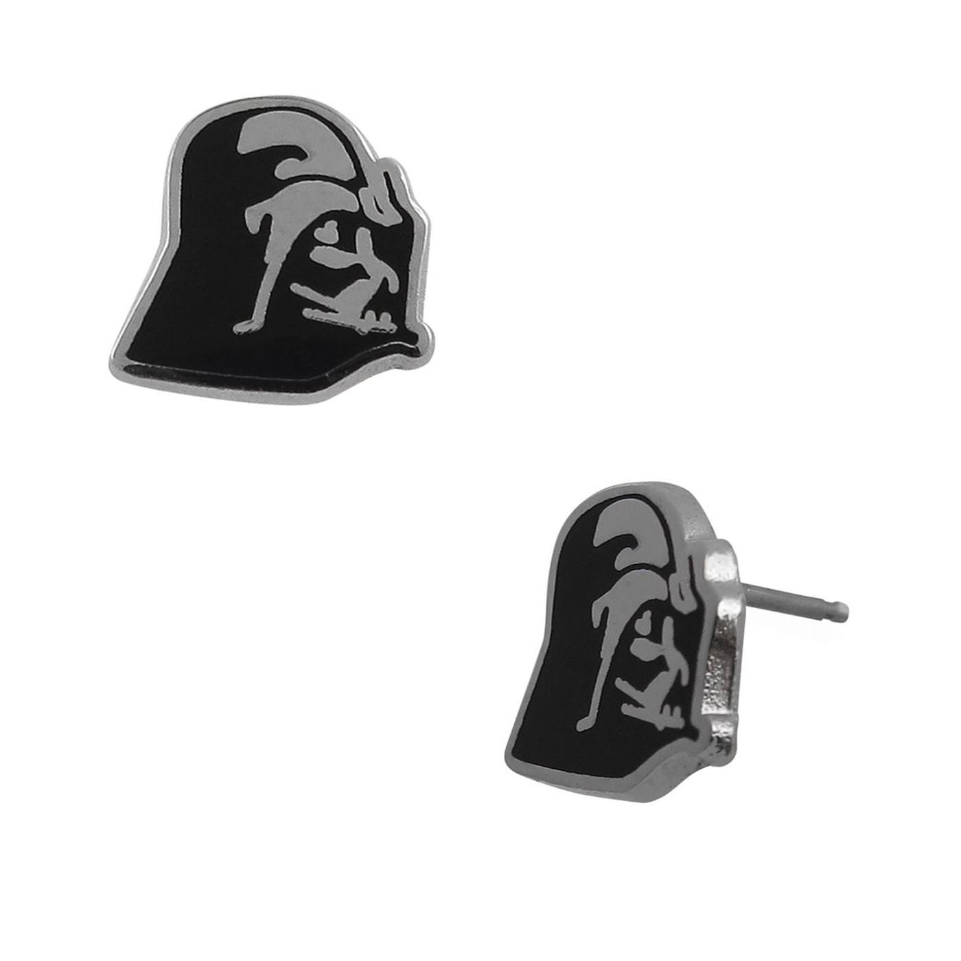 Star Wars Darth Vader Profile Stud Earrings