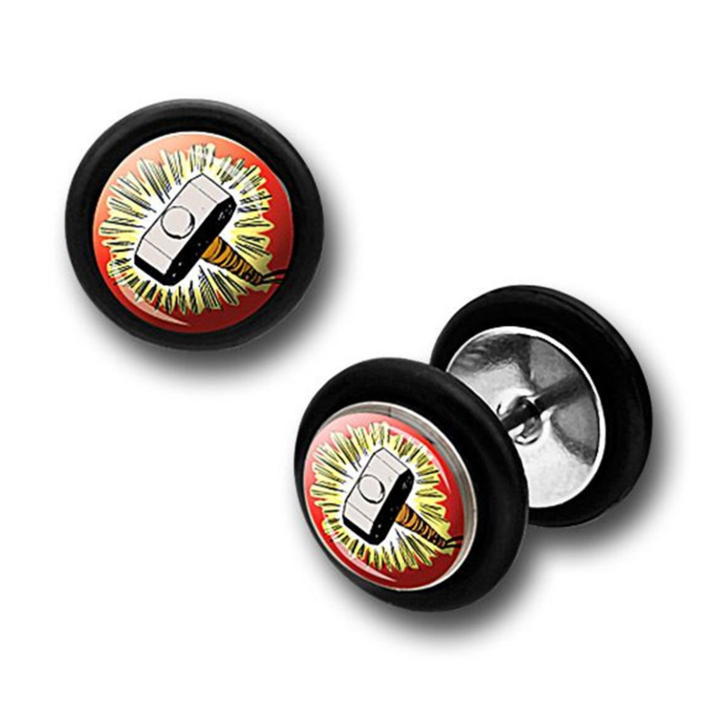 Thor 316L Surgical Steel Earrings Fake Plugs