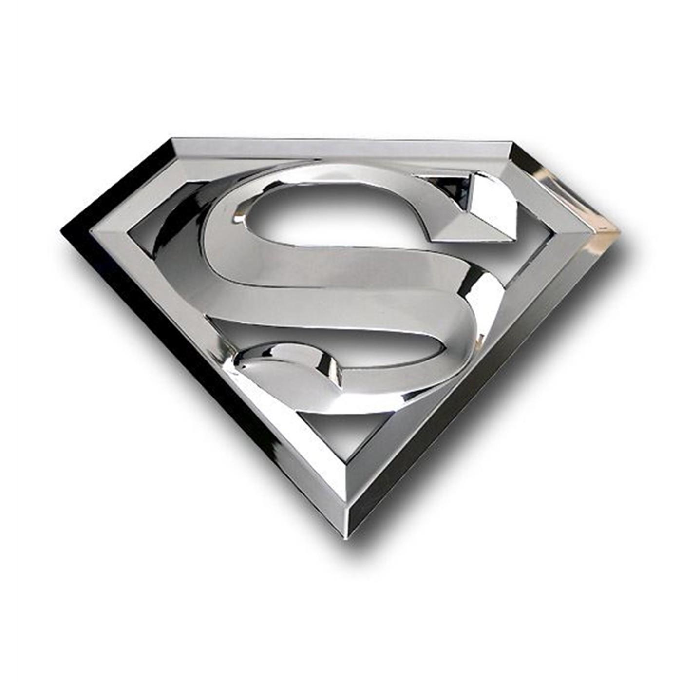 Superman 3D Chrome Adhesive Car Emblem