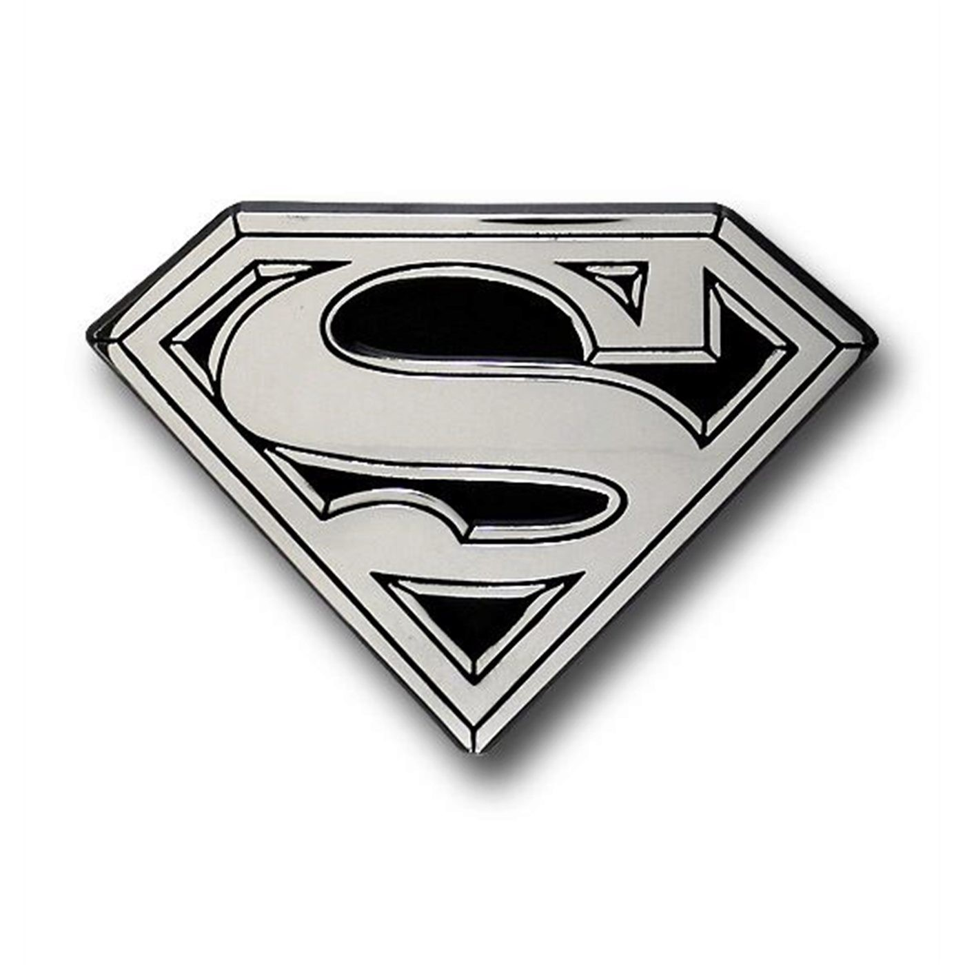 Superman Chrome Symbol Metal Adhesive Car Emblem