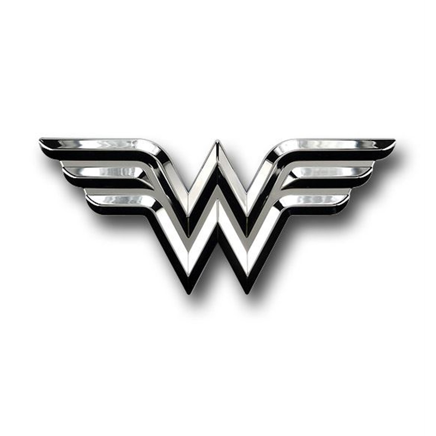 Wonder Woman Chrome Symbol Car Emblem