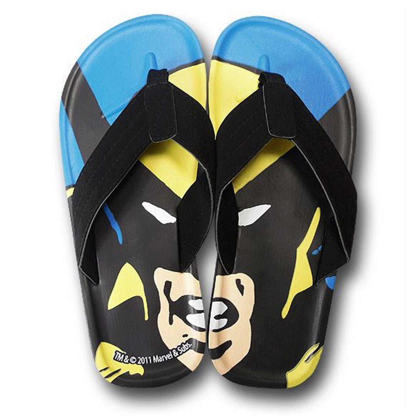 Wolverine Close Up Flip Flops