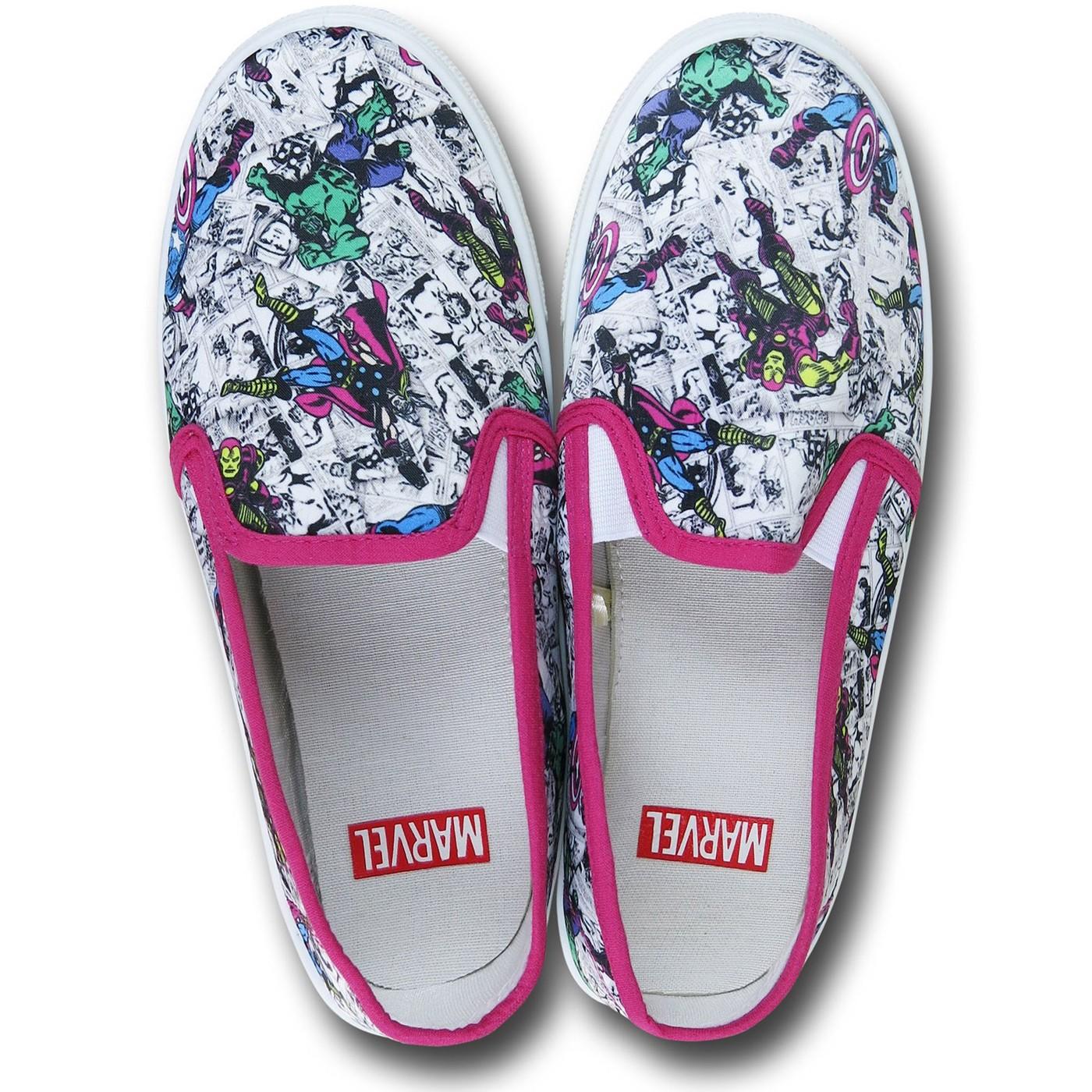 Marvel Women's Slip-On Sneakers