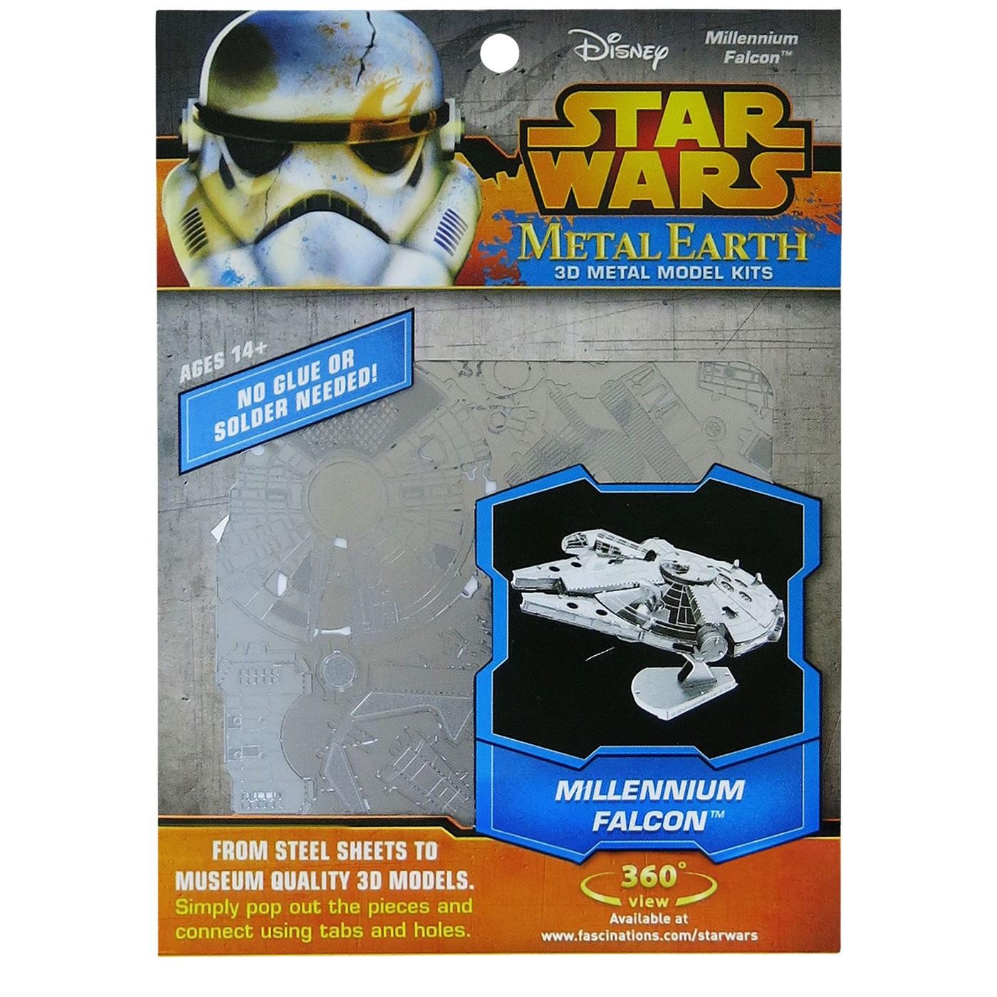 Star Wars Millennium Falcon Metal Earth Model Kit