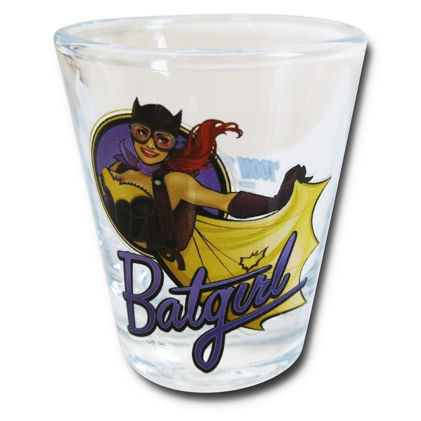 Batgirl Bombshell Mini Glass
