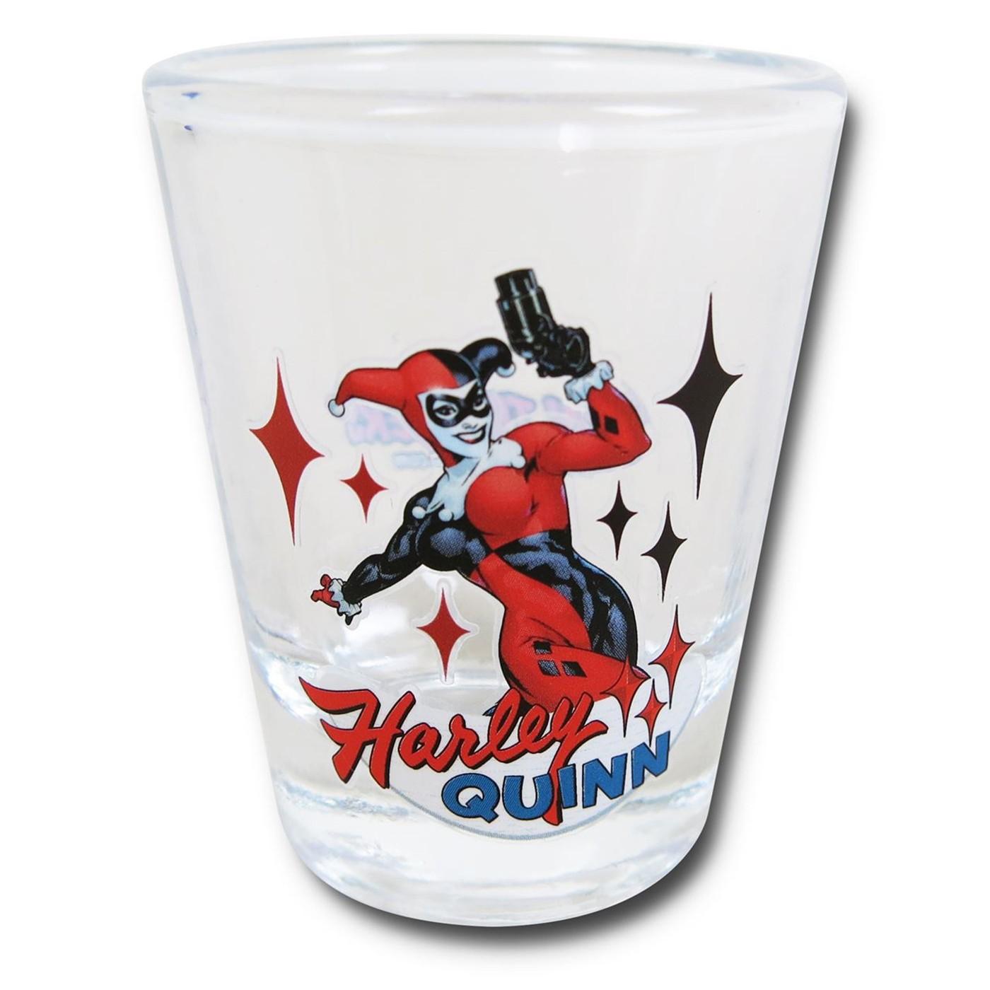Harley Quinn Stance Mini Glass