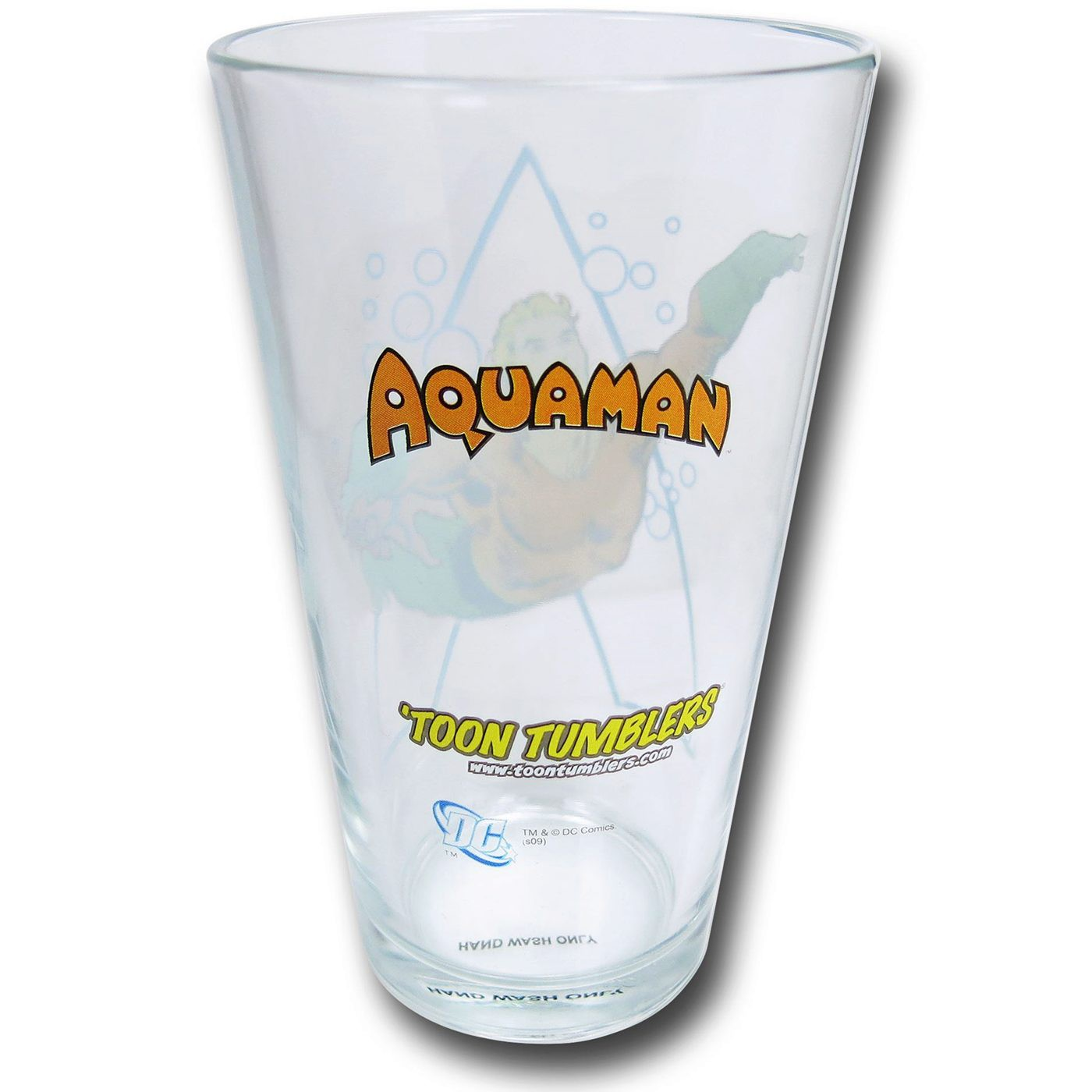 Aquaman and Symbol Clear Pint Glass