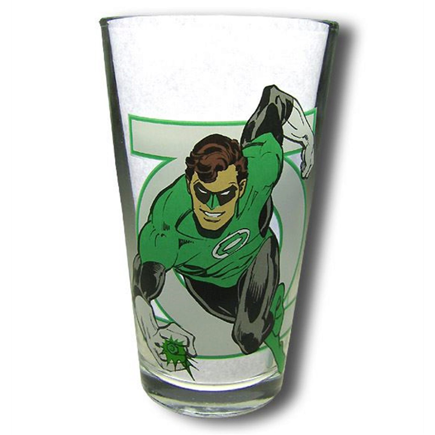 Green Lantern and Symbol Clear Pint Glass