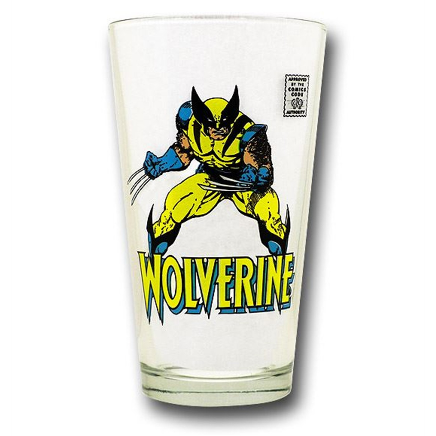 Wolverine Comics Code Pint Glass