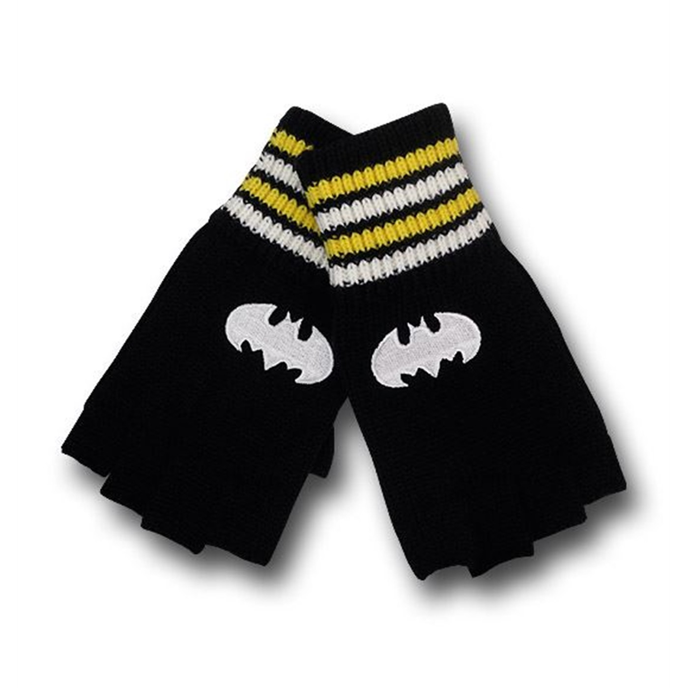 Batman Stripe Cuff Fingerless Gloves